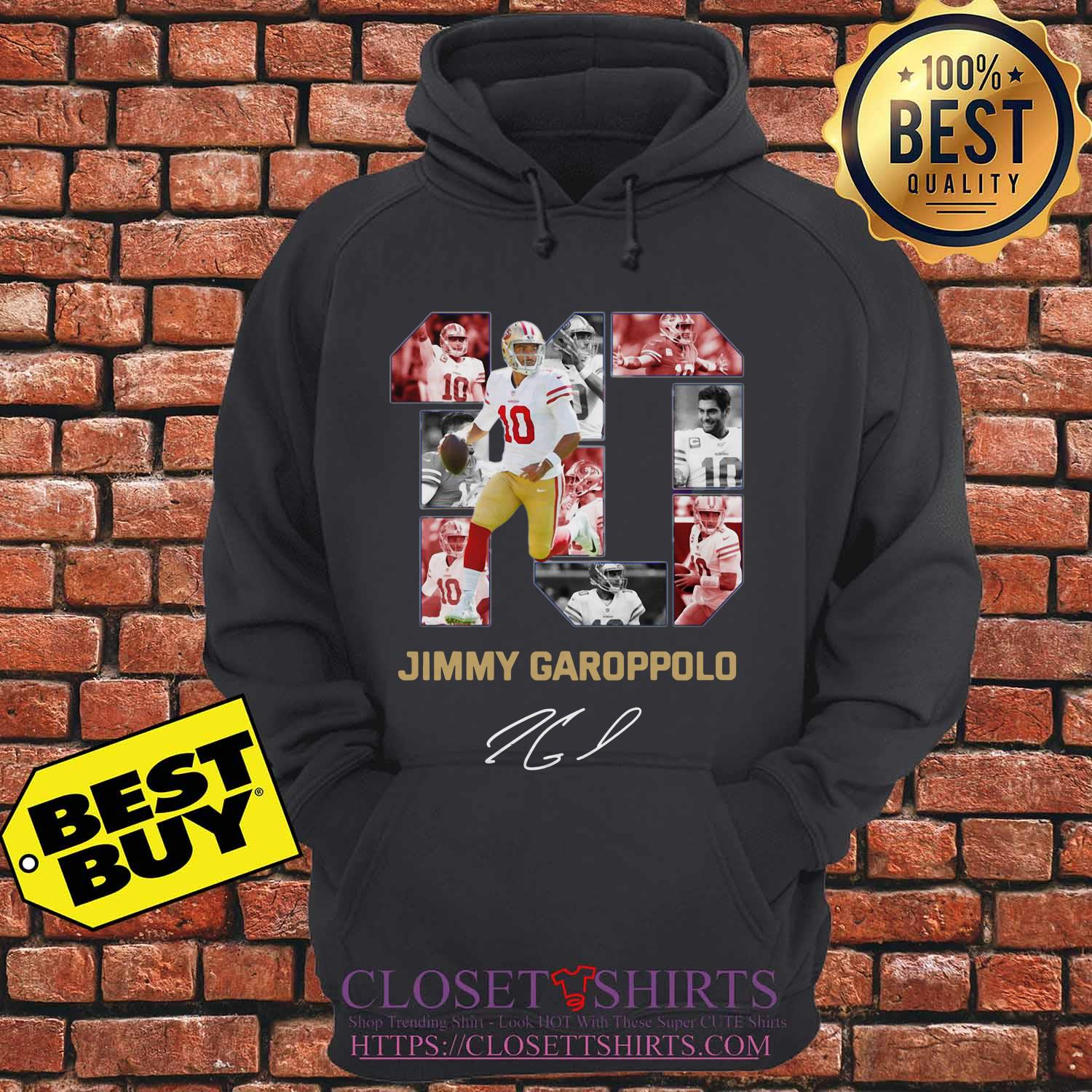 10 Jimmy Garoppolo San Francisco 49ers Signature Hoodie