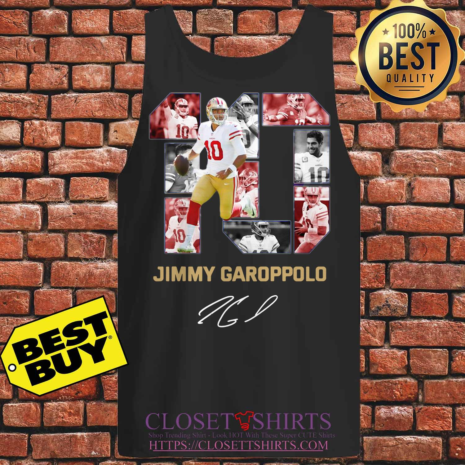 10 Jimmy Garoppolo San Francisco 49ers Signature Tank Top