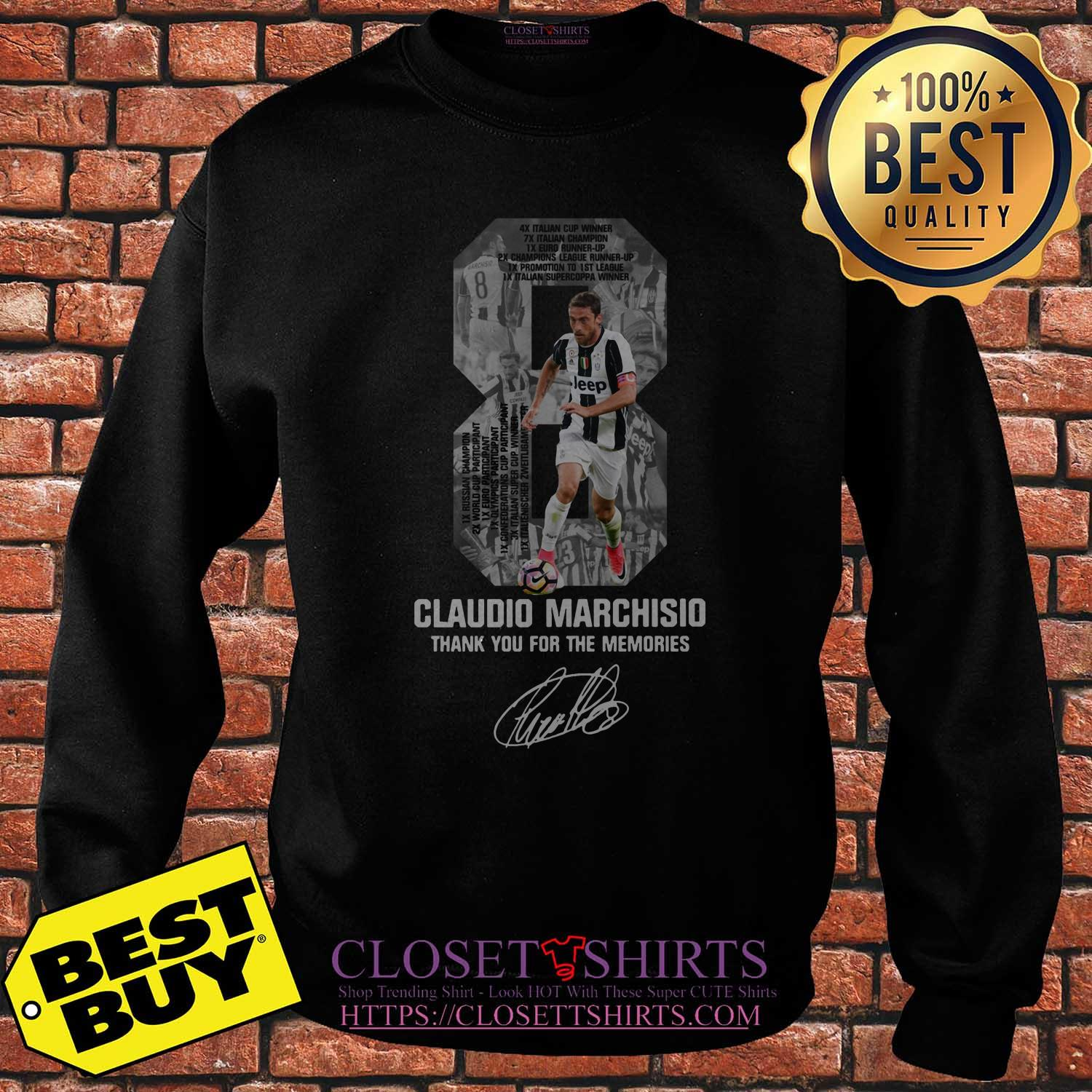 8 Claudio Marchisio Thank You For The Memories Signature sweatshirt