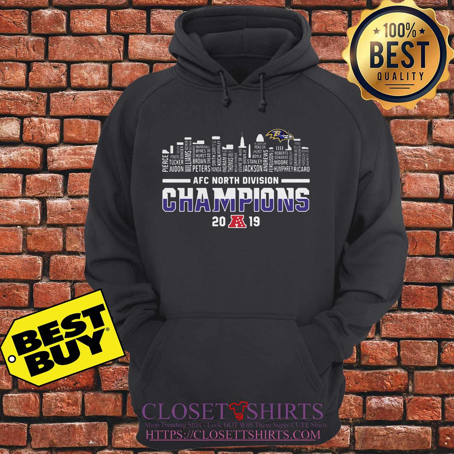 Baltimore Ravens Afc North Division Champions 2019 Hoodie