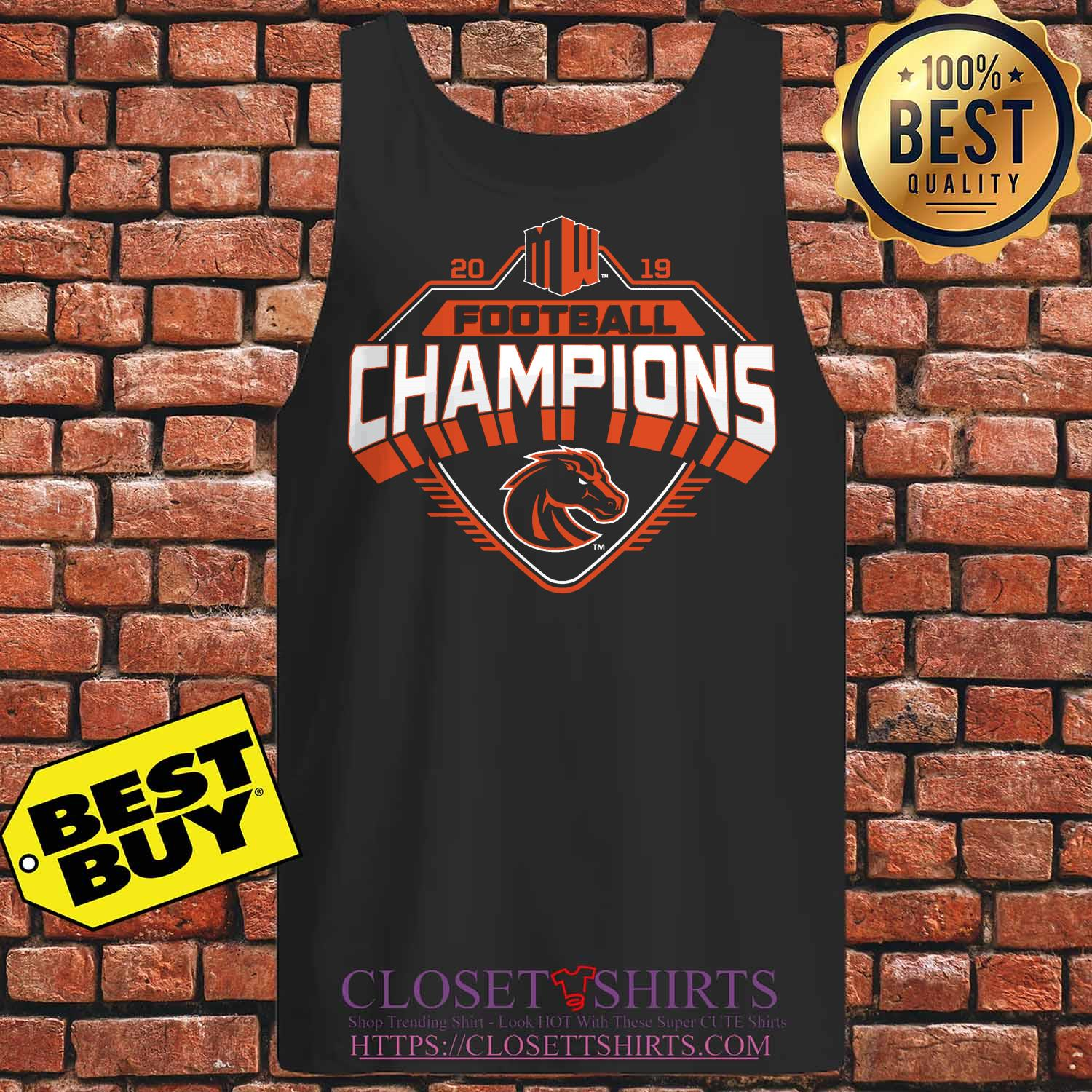 Boise State Broncos 2019 Mountain West Football Champions tank top