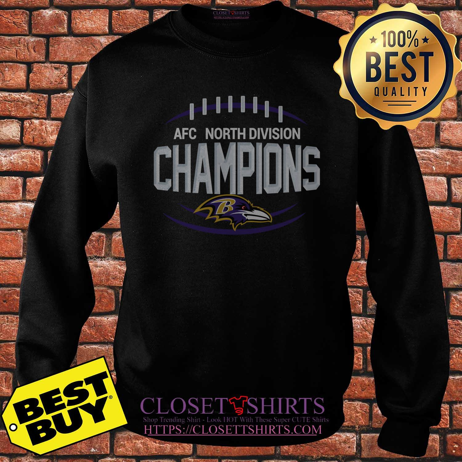 Lamar Jackson Baltimore Ravens The North Is Not Enough Divison Champions sweatshirt