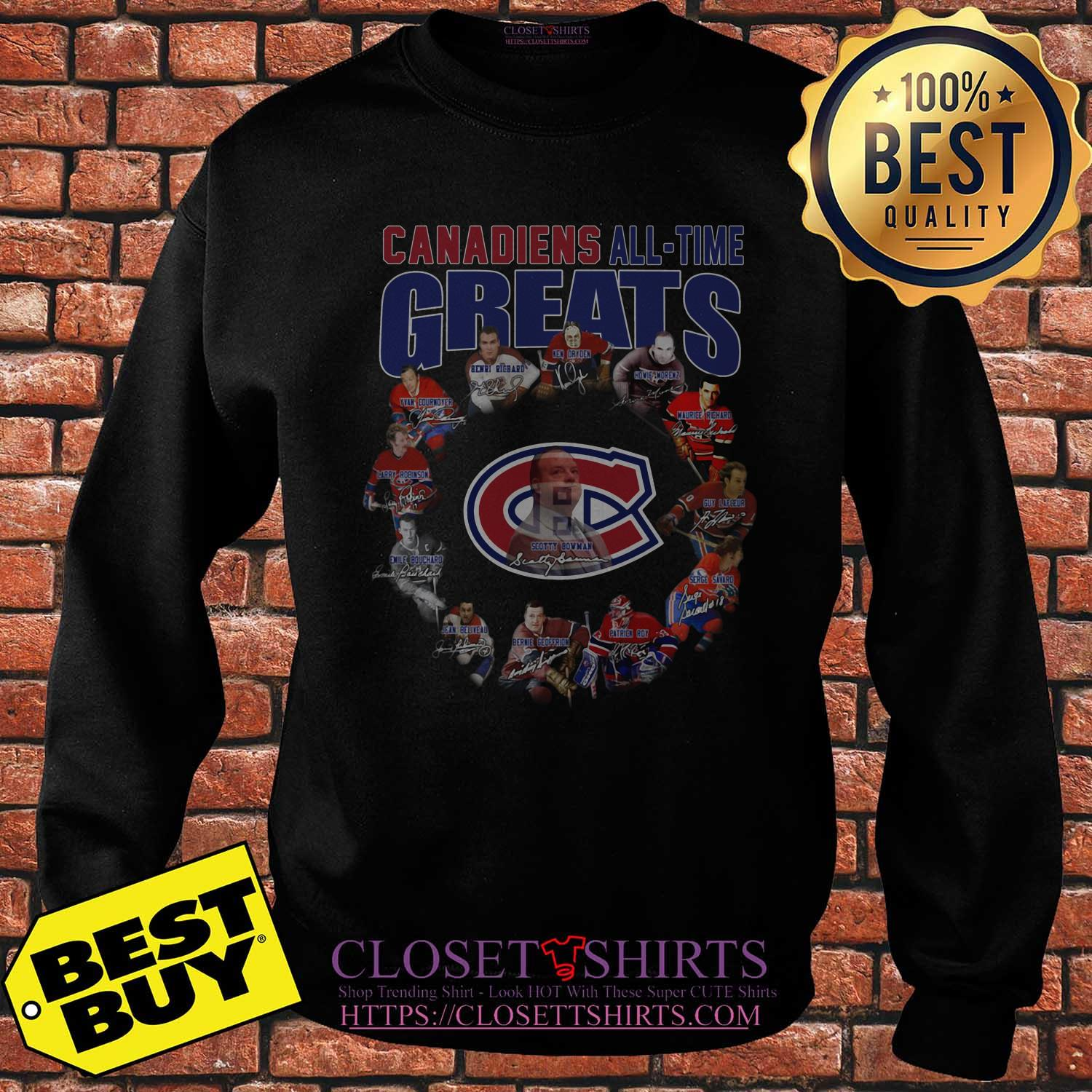Montreal Canadiens All Time Greats Players Signatures sweatshirt\