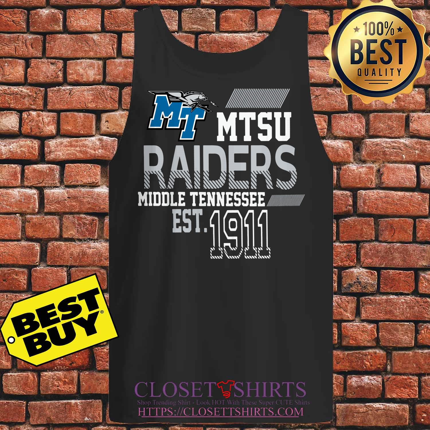 Mtsu Raiders Middle Tennessee Est.1911 tank top