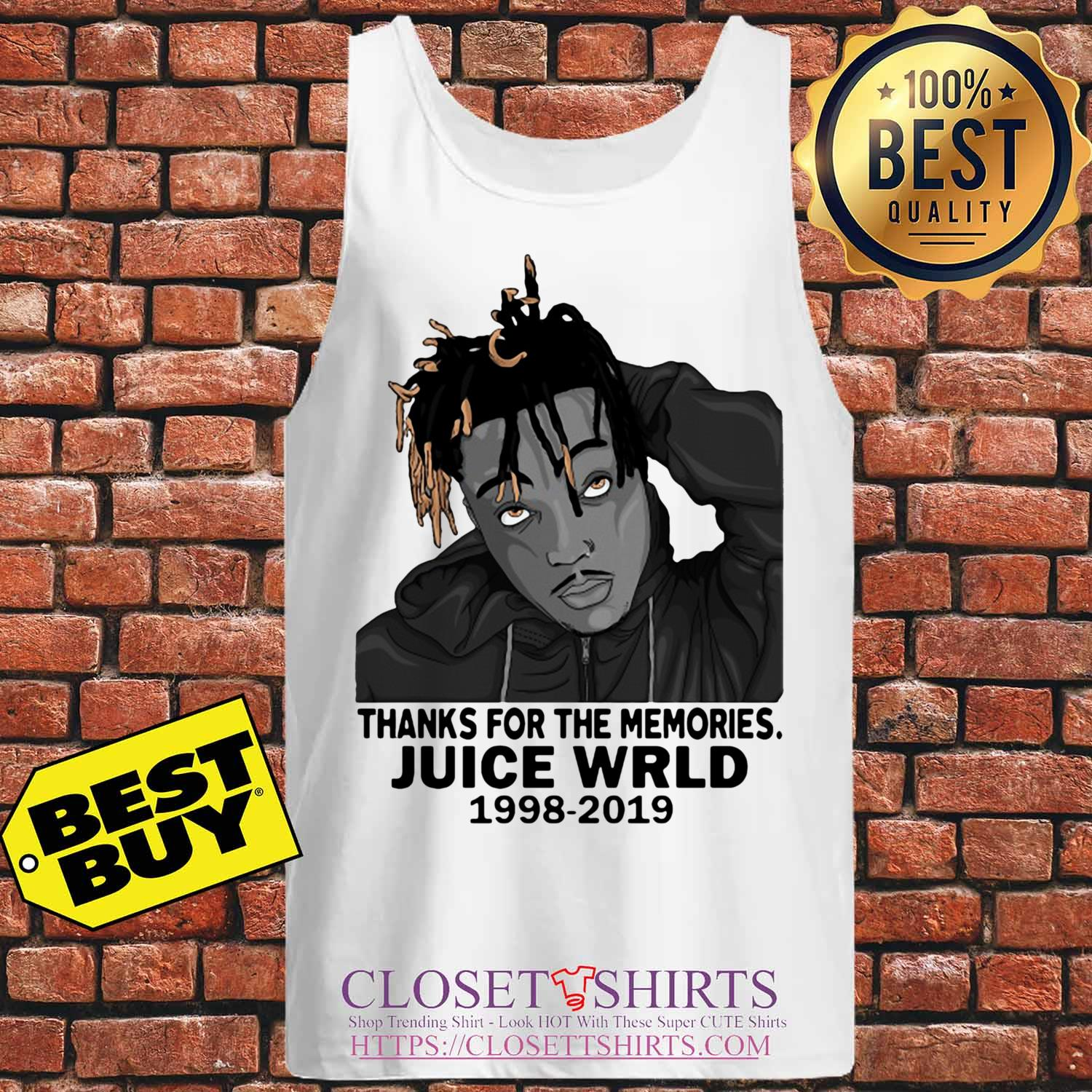 Rip Juice Wrld 1998 2019 Thanks For The Memories tank top Sweater