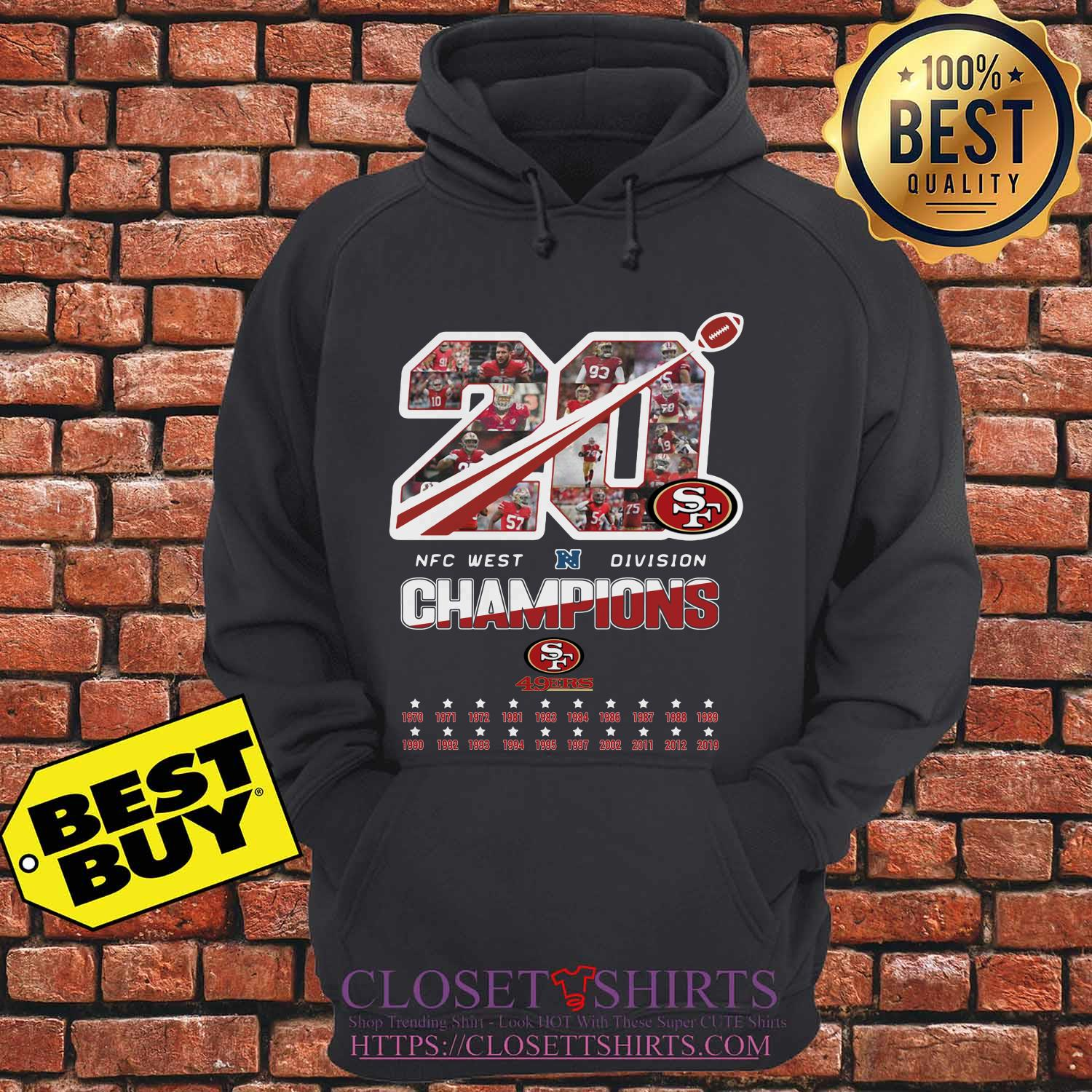 San Francisco 49ers 20 Nfc West Division Champions Hoodie
