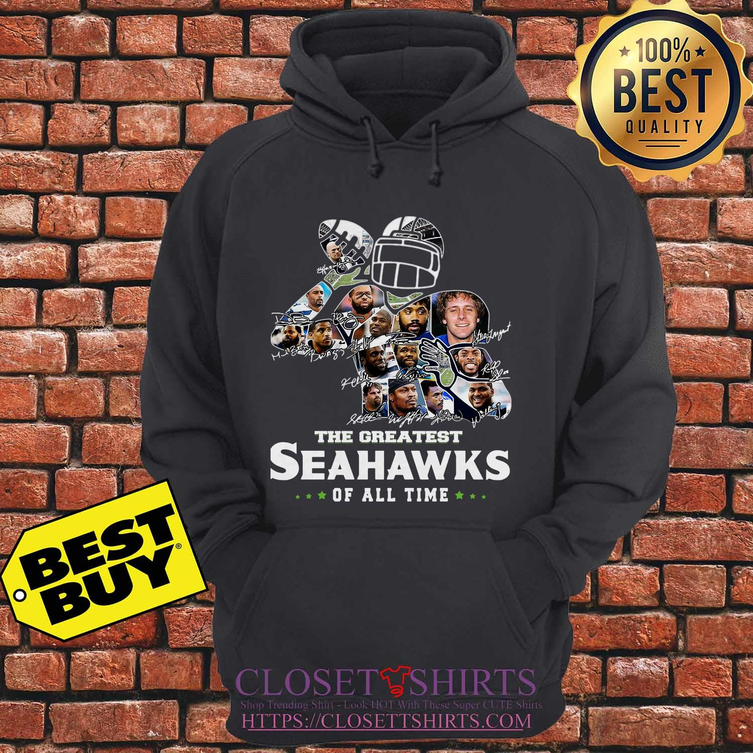 The Greatest Seahawks Of All Time Signatures Hoodie