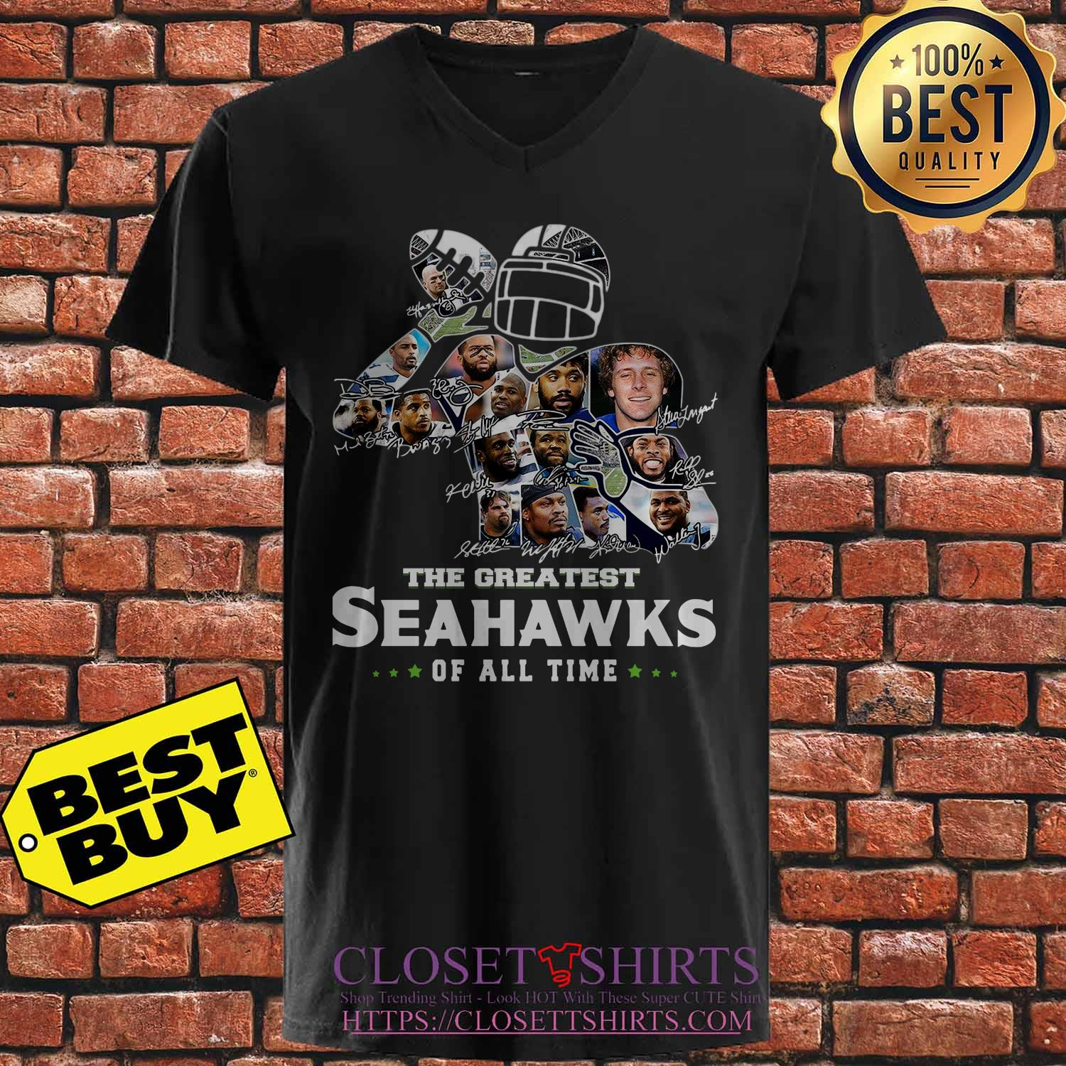 The Greatest Seahawks Of All Time Signatures V Neck