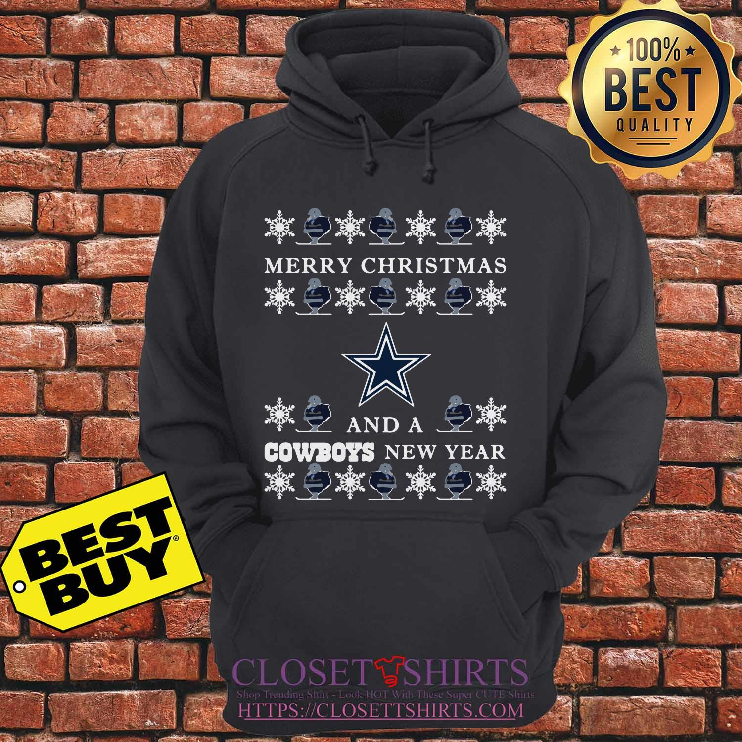 Ugly Merry Christmas And Dallas Cowboys hoodie