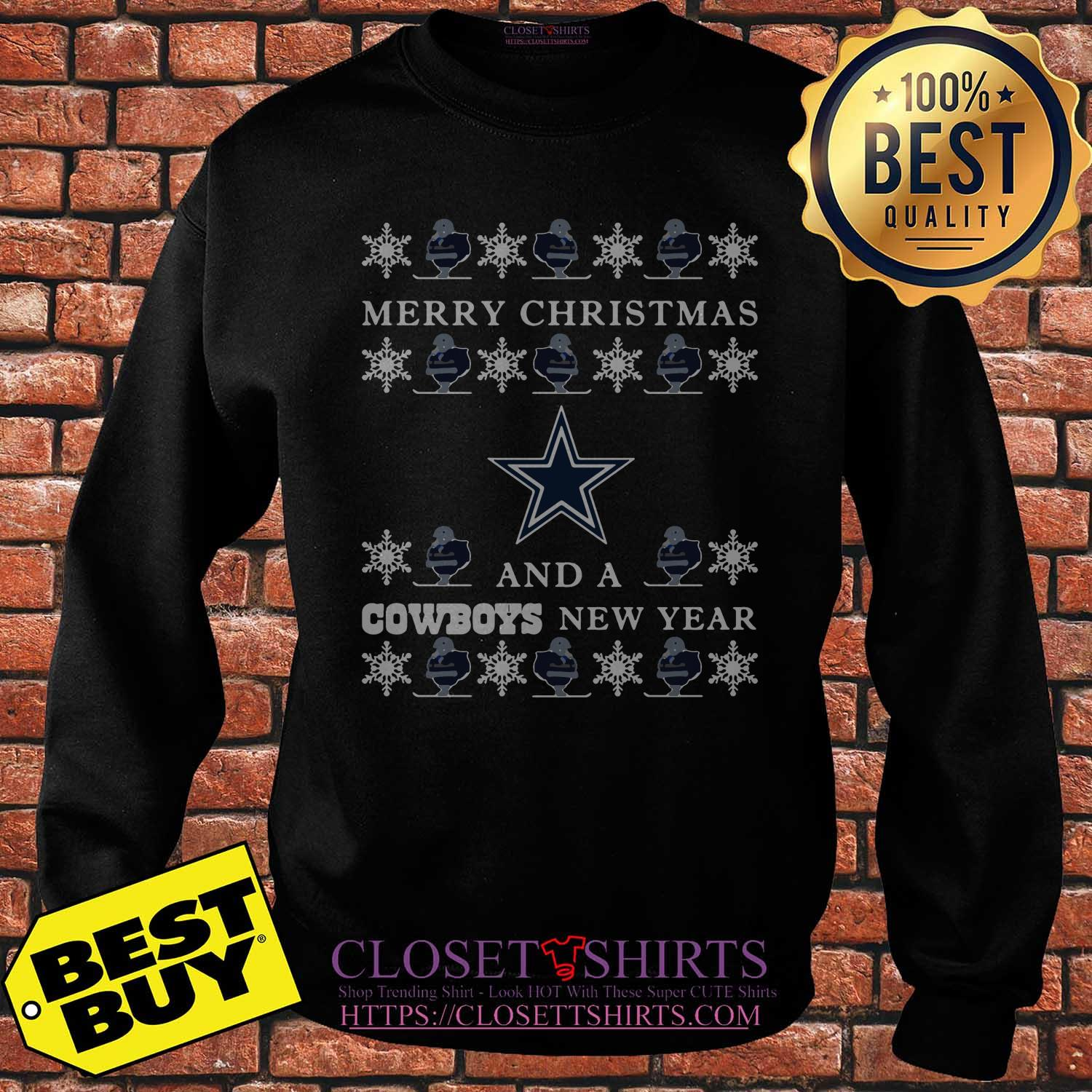 Ugly Merry Christmas And Dallas Cowboys sweatshirt