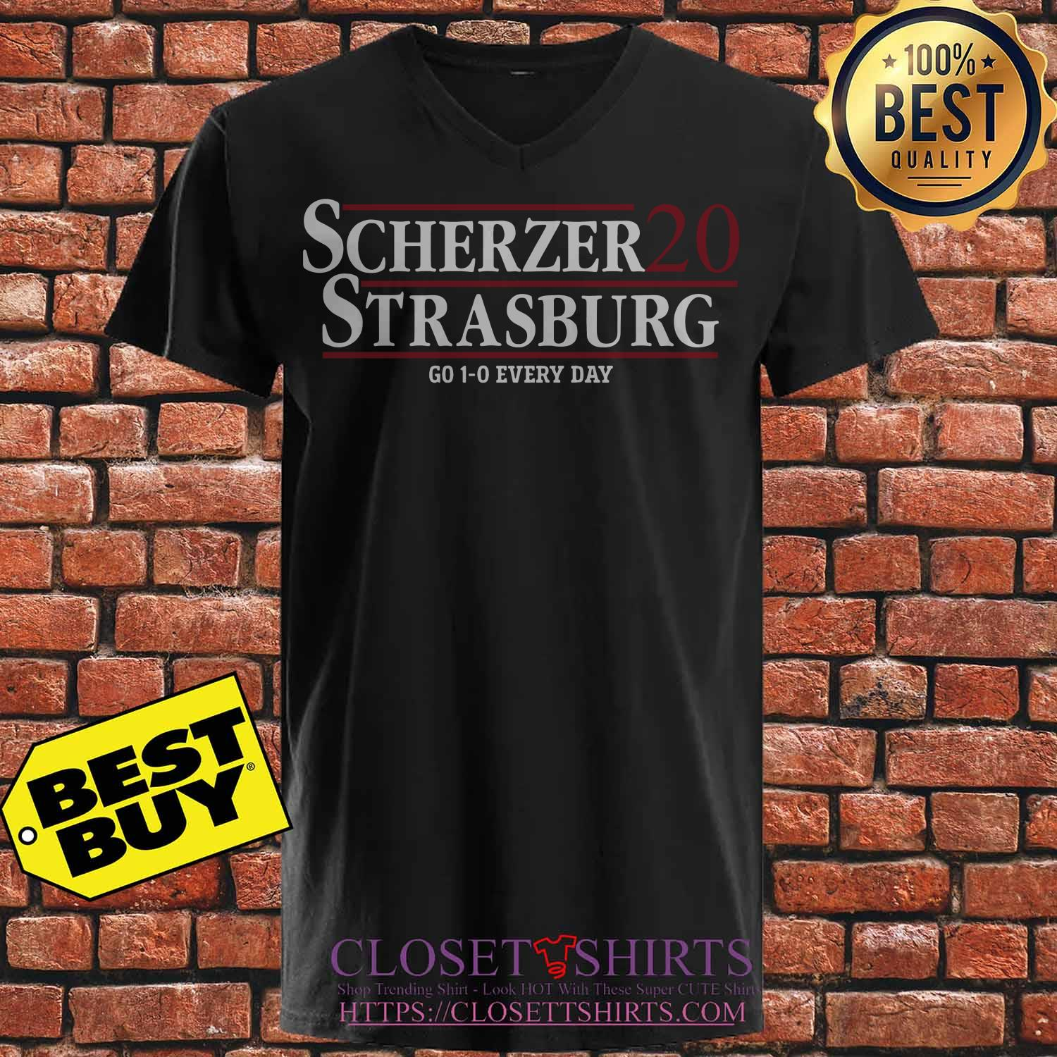 Scherzer Strasburg 2020 Go 1 0 Every Day v neck