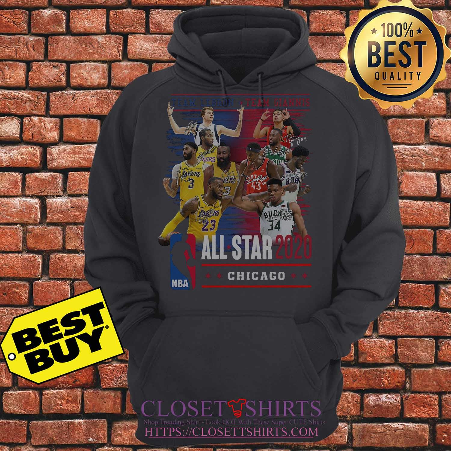 Team Lebron And Team Giannis All Star 2020 Chicago Signatures hoodie