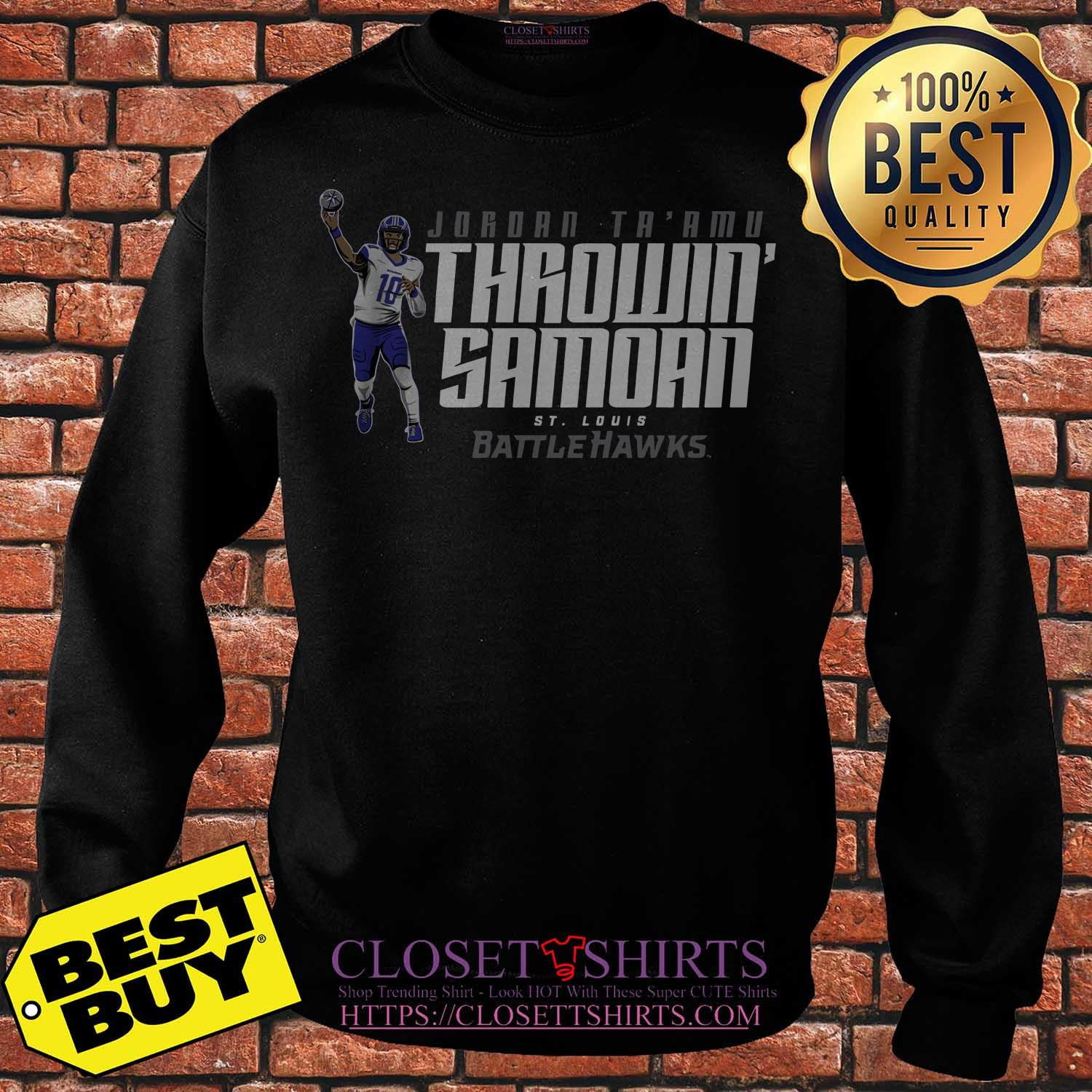 Jordan Ta'amu Throwin Samoan St.louis Battlehawks Sweater
