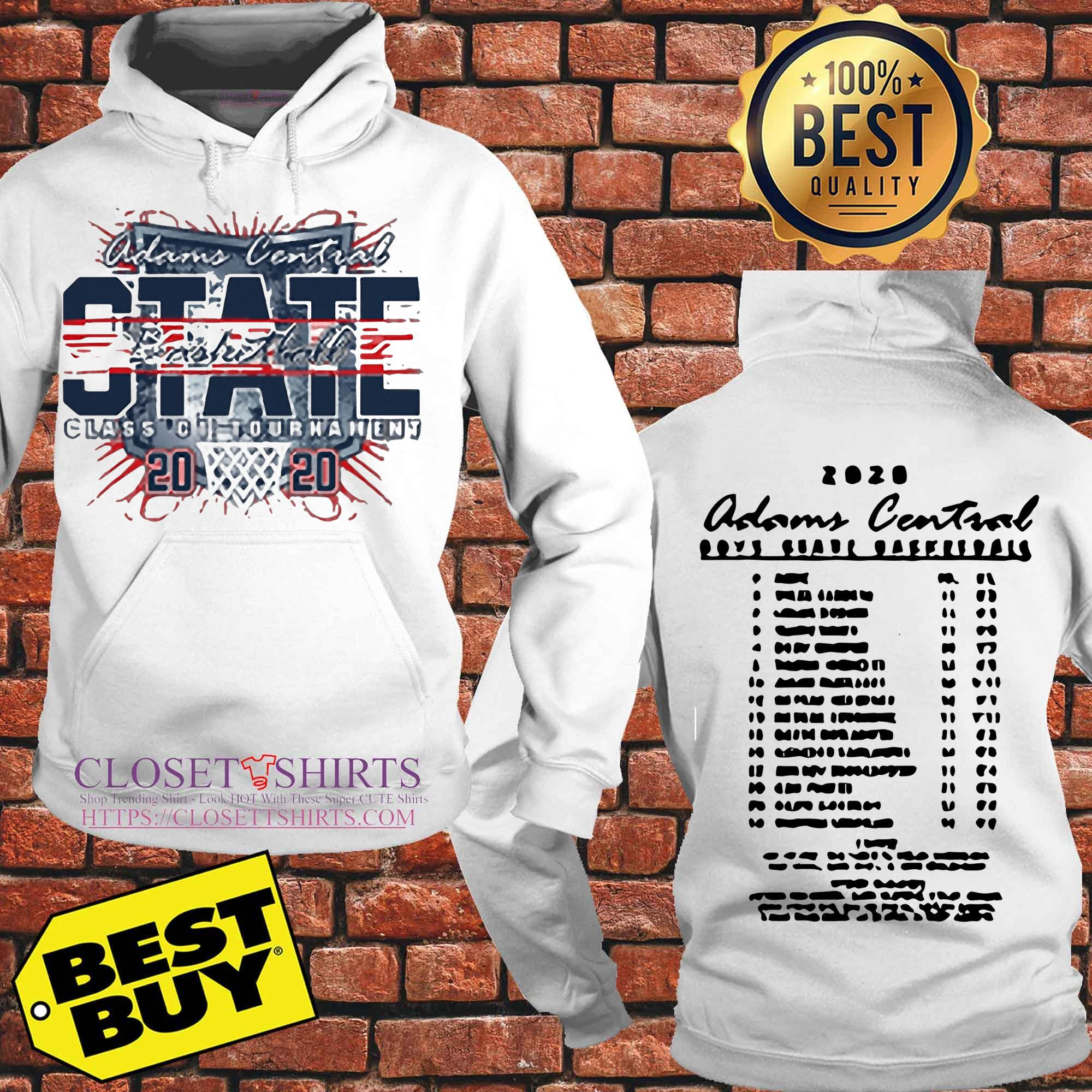Adams Central Boys State Basketball 2020 Sport Grey Hoodies