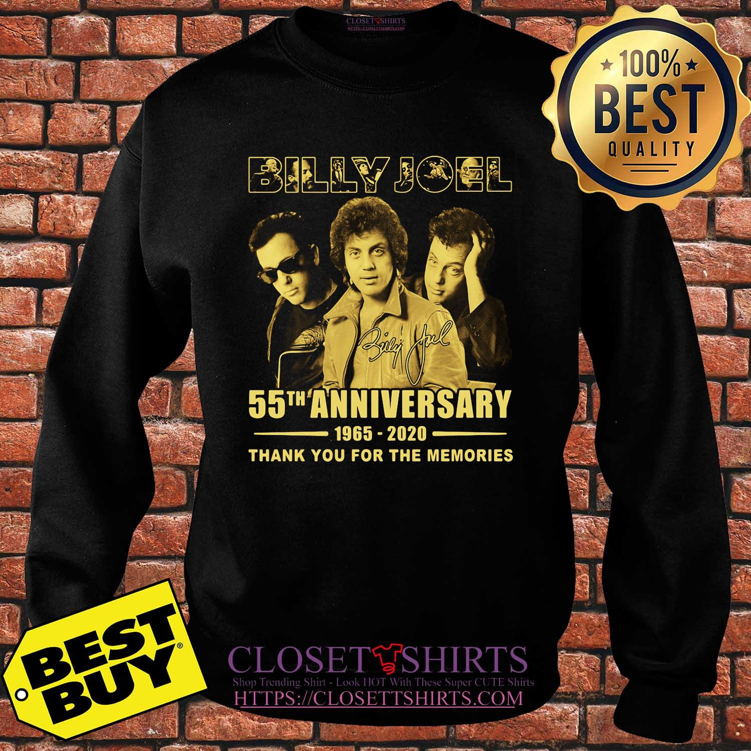 Billy Joel 55th Anniversary 1965 2020 Thank You For The Memories Signature shirt