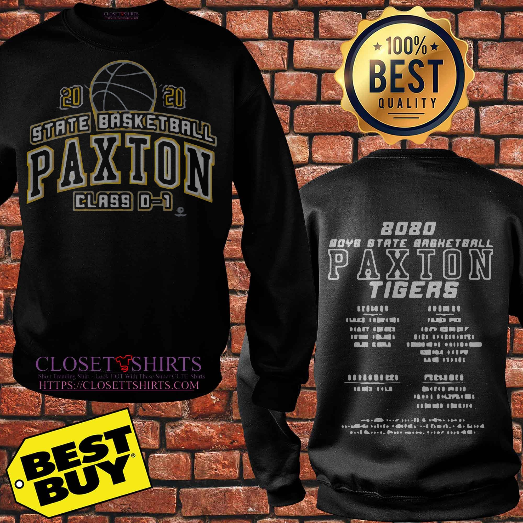 Boys State Basketball Paxton Tigers Class 0 1 2020 Sweater