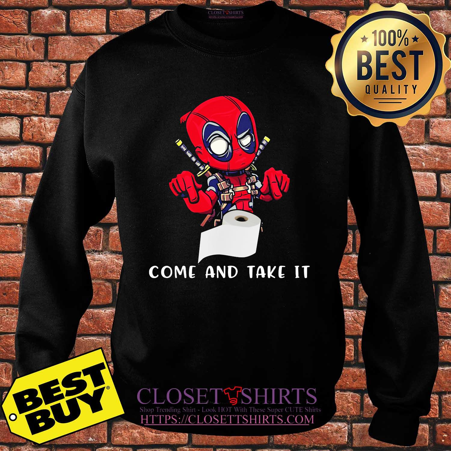 Deadpool toilet paper come and take it shirt