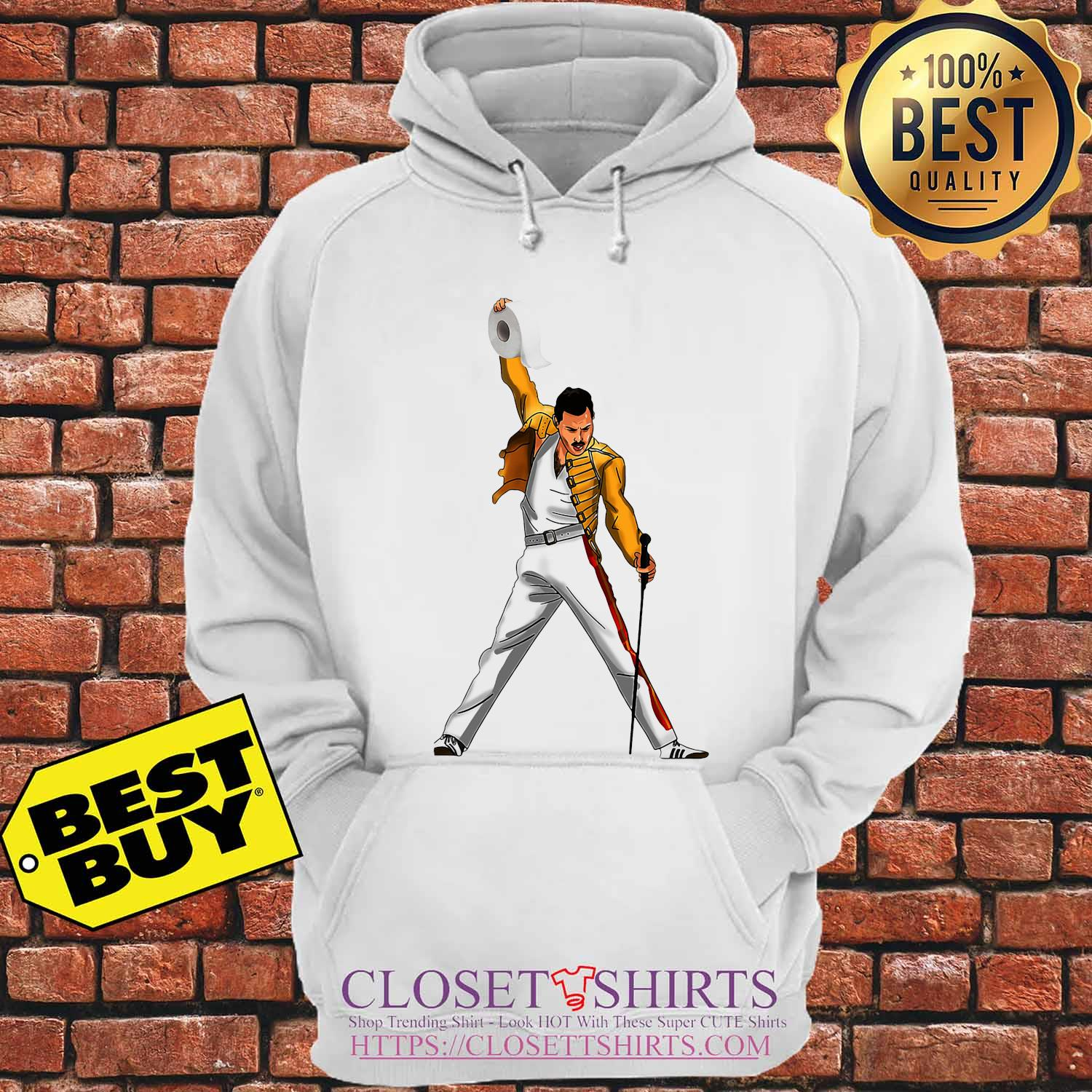 Freddie Mercury Cartoon Toilet Paper 2020 s Hoodie