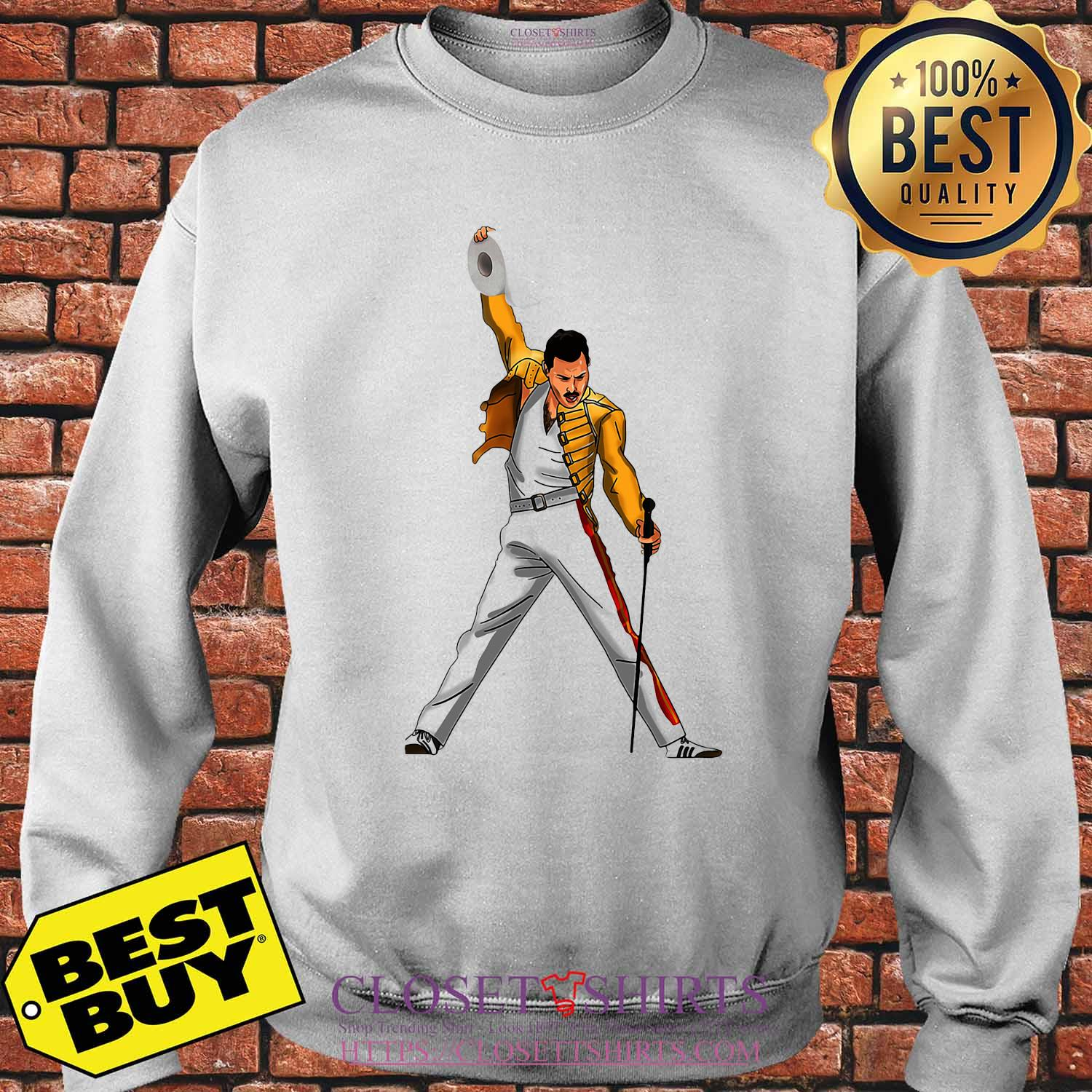 Freddie Mercury Cartoon Toilet Paper 2020 shirt