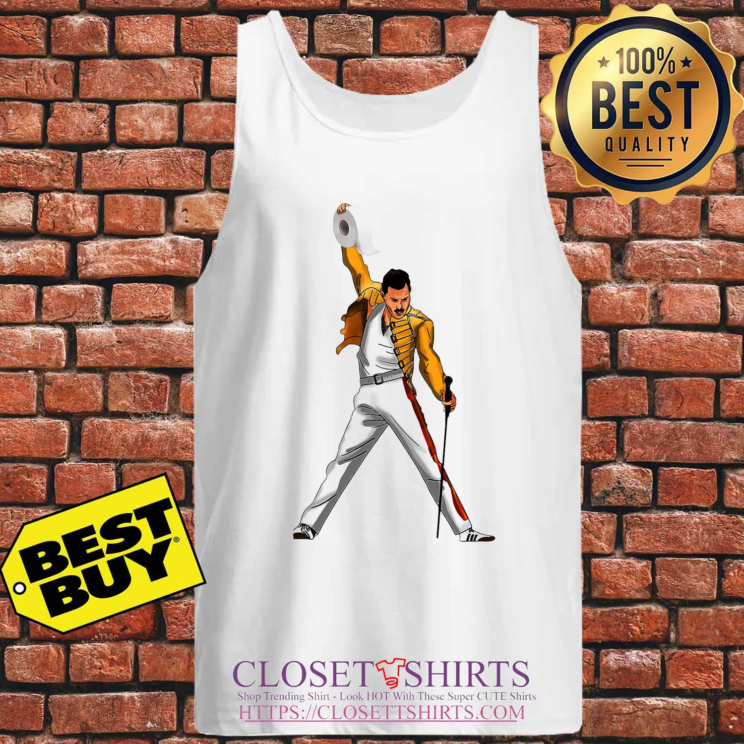 Freddie Mercury Cartoon Toilet Paper 2020 s Tank-top