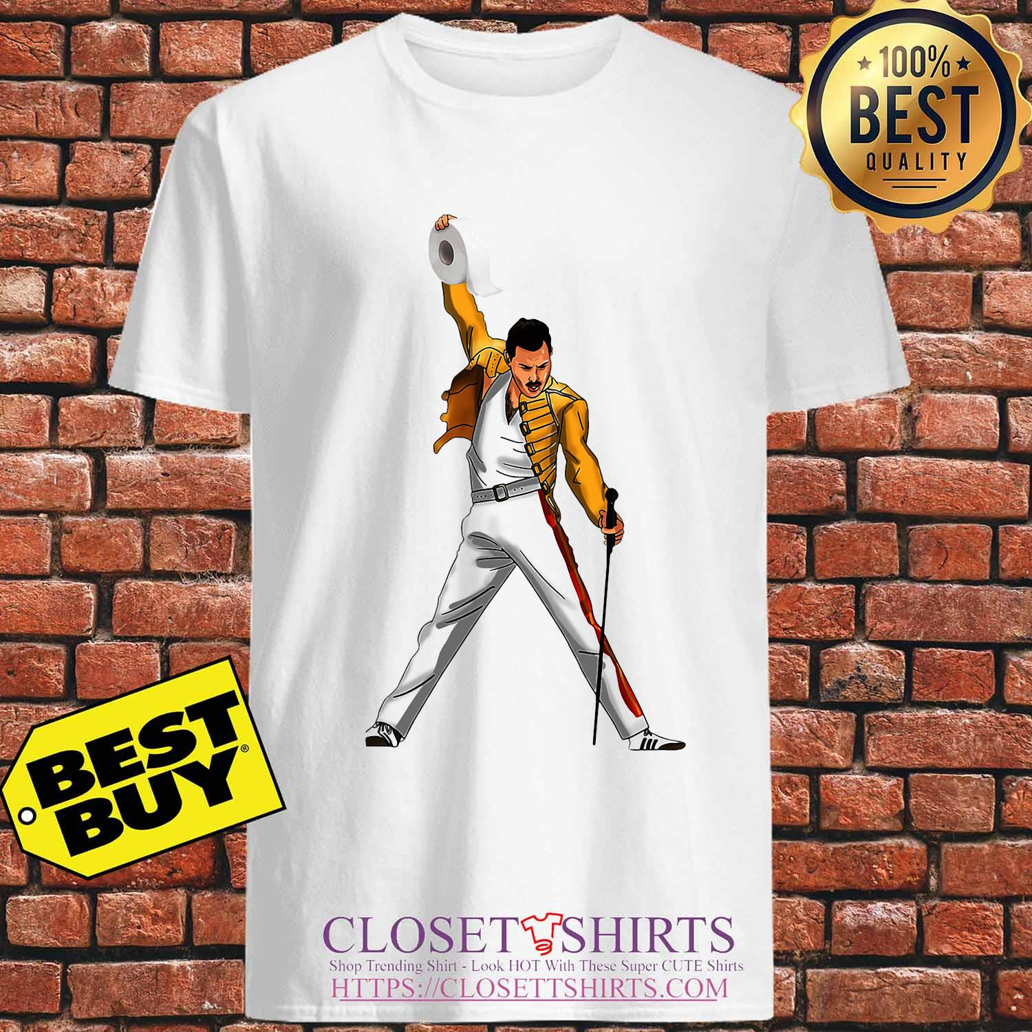 Freddie Mercury Cartoon Toilet Paper 2020 s Unisex