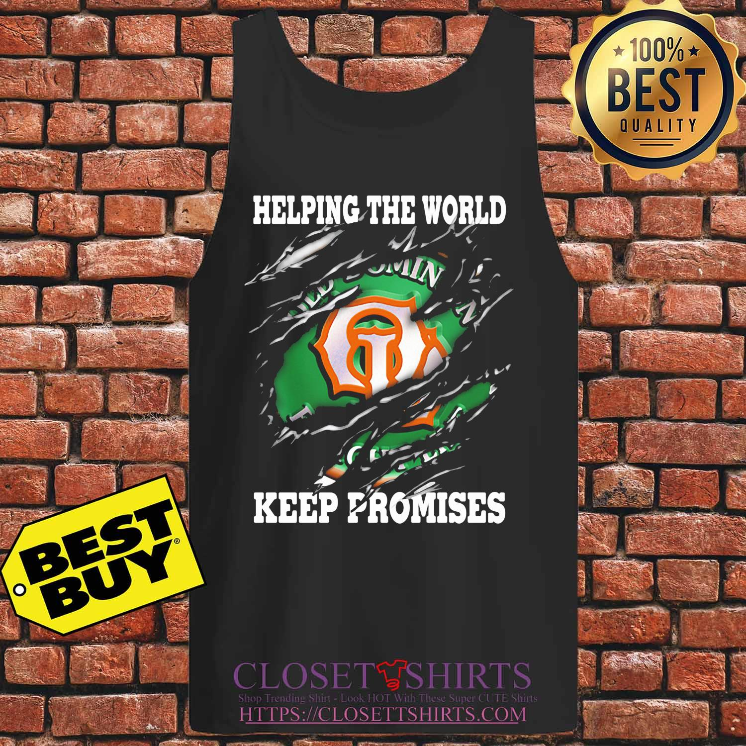Helping The World Keep Promises 2020 s Tank top
