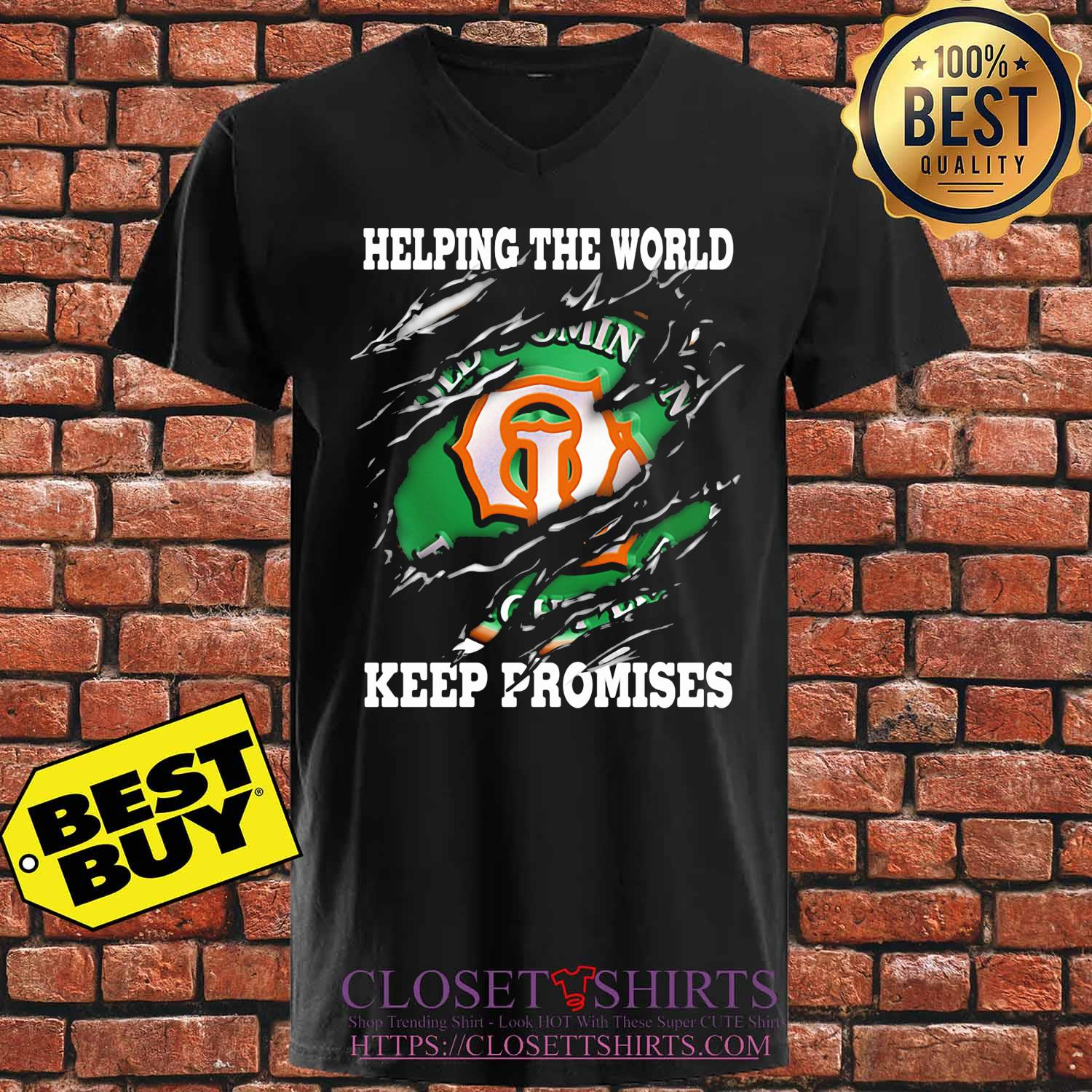 Helping The World Keep Promises 2020 s V-neck