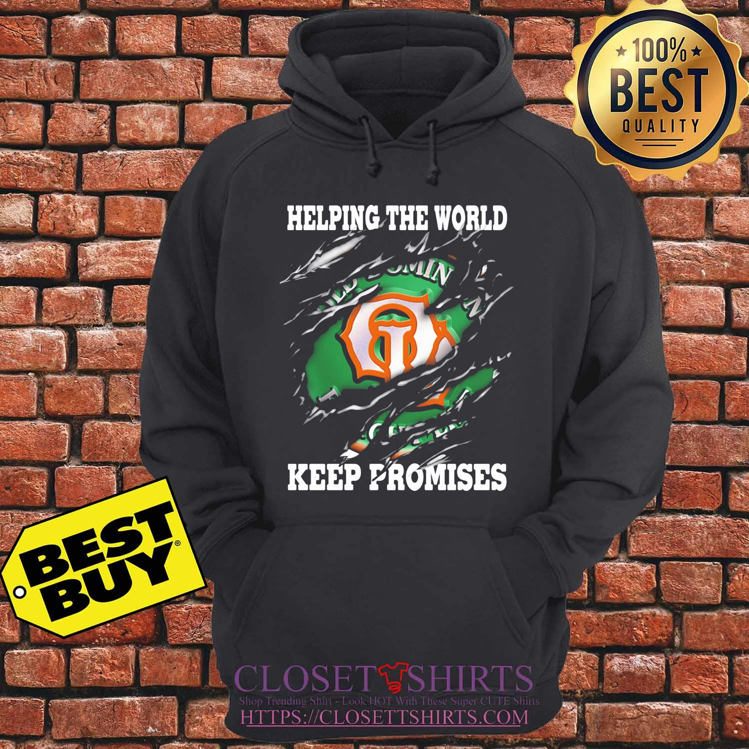 Helping The World Keep Promises 2020 s hoodie