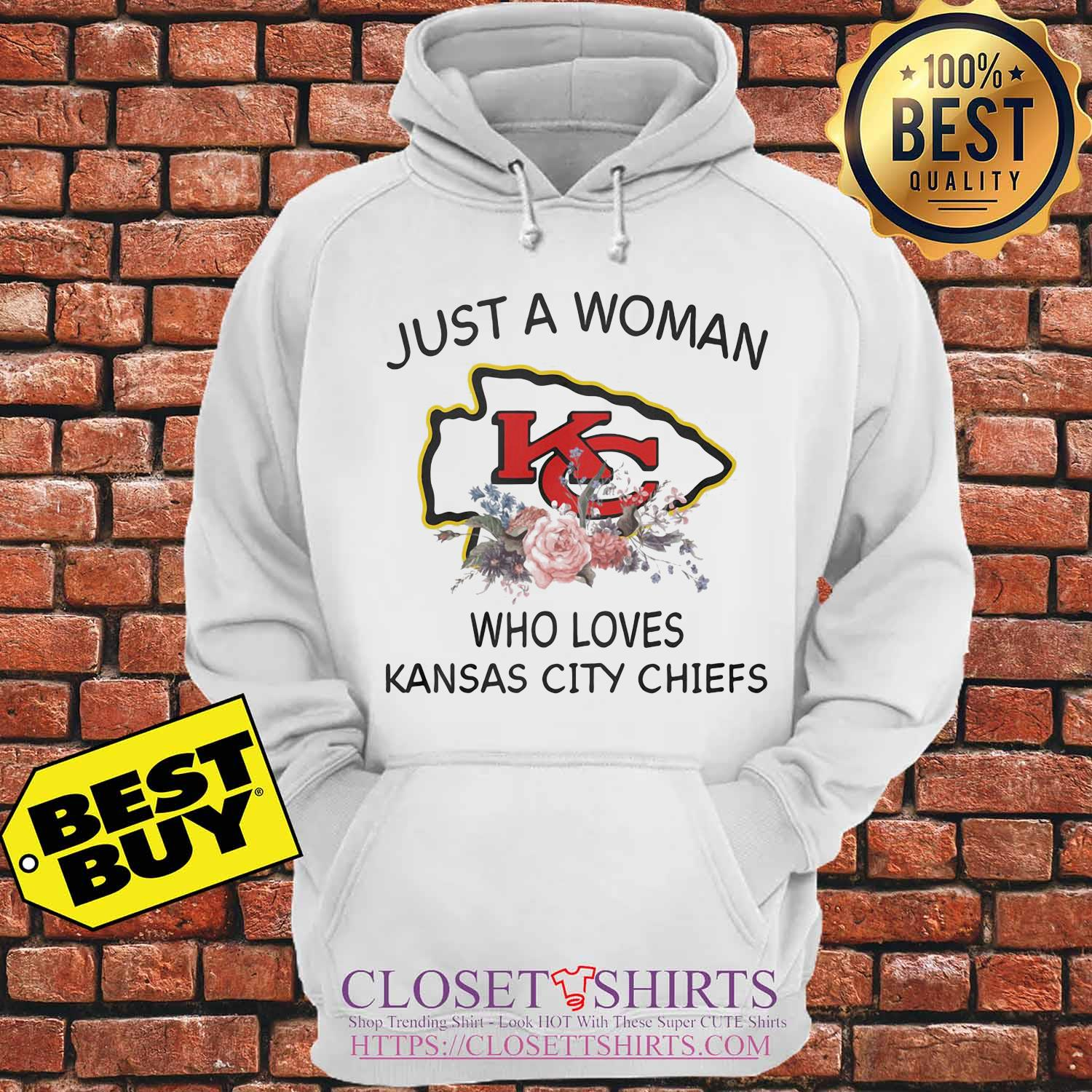 Just a woman who loves Kansas City Chiefs flowers s Hoodie