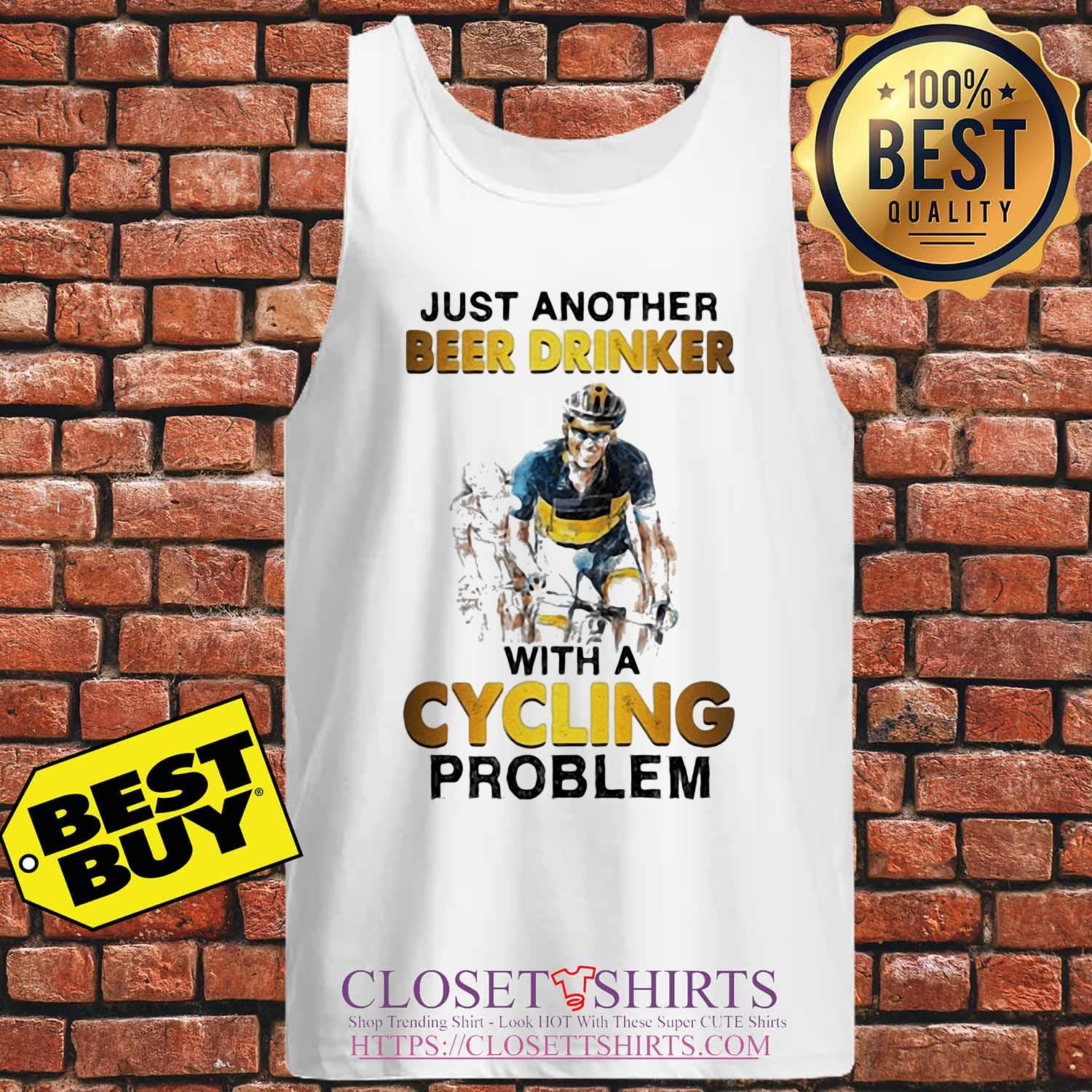 Just another beer drinker with a cycling problem s Tank-top