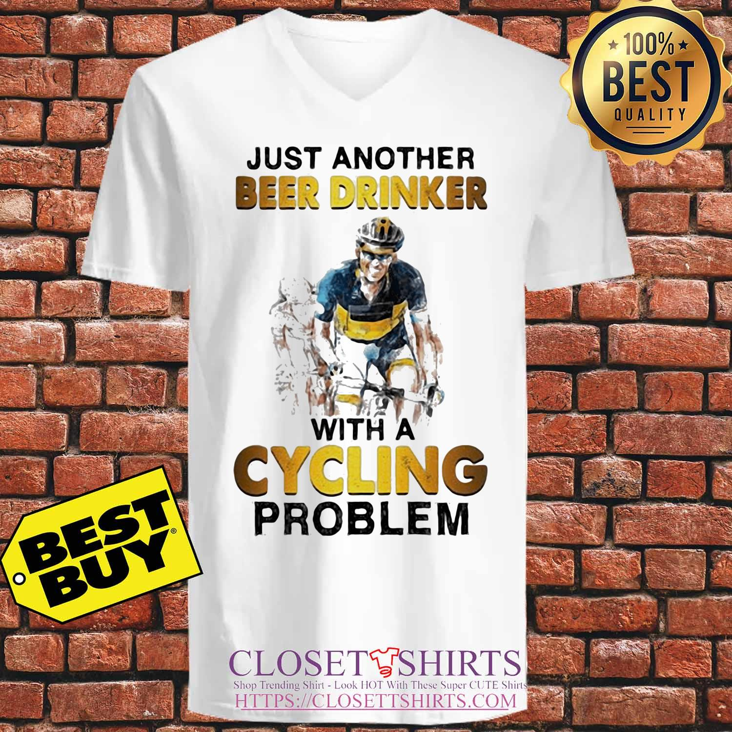 Just another beer drinker with a cycling problem s V-neck