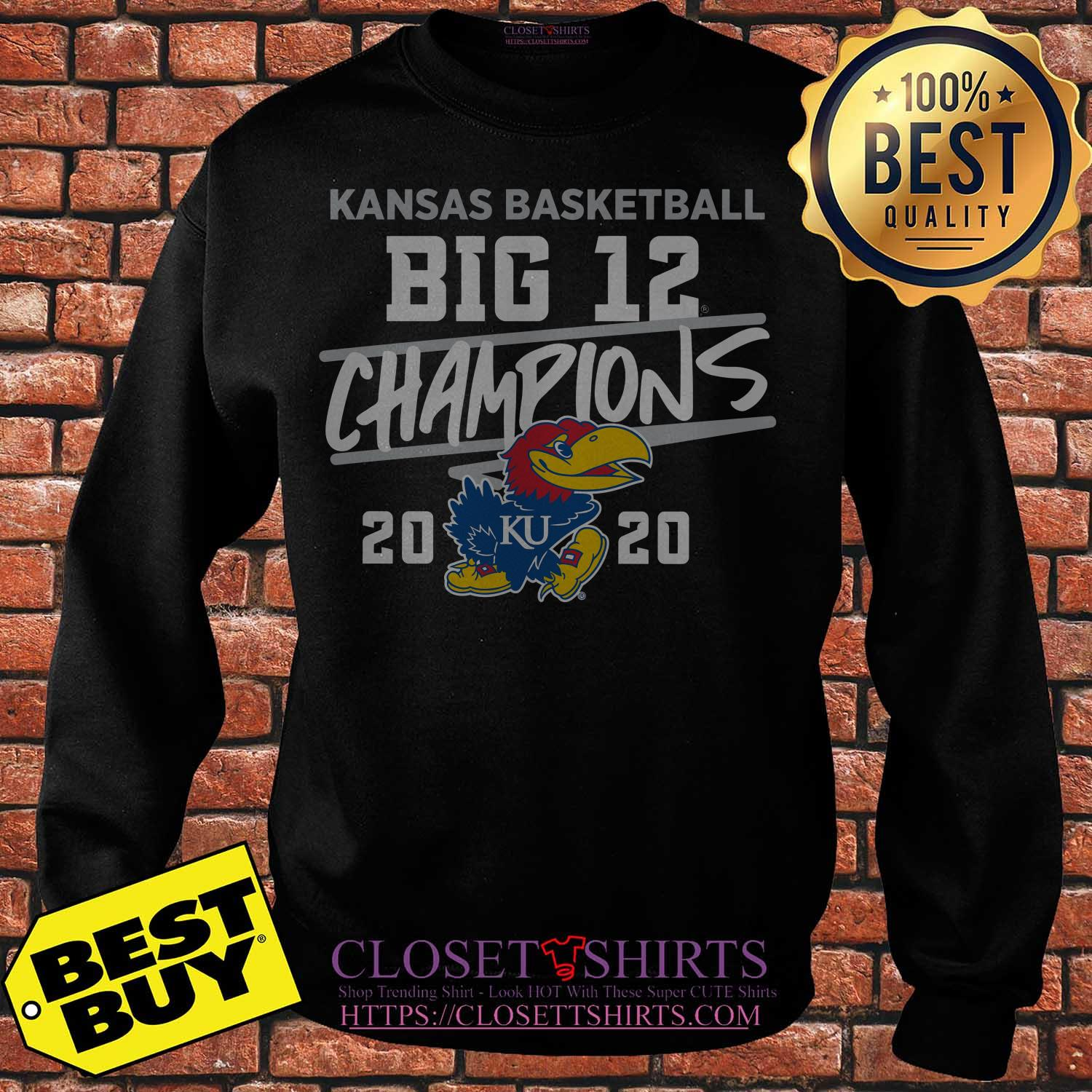 Kansas Jayhawks 2020 Big 12 Basketball Champions Sweater