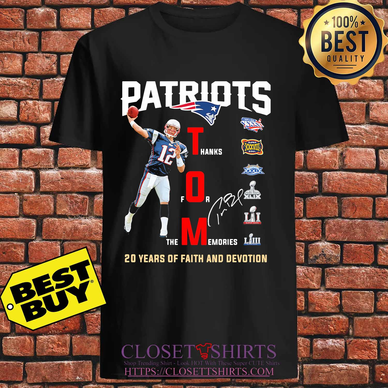 New england patriots tom liv 20 years of faith and devotion signature s Unisex