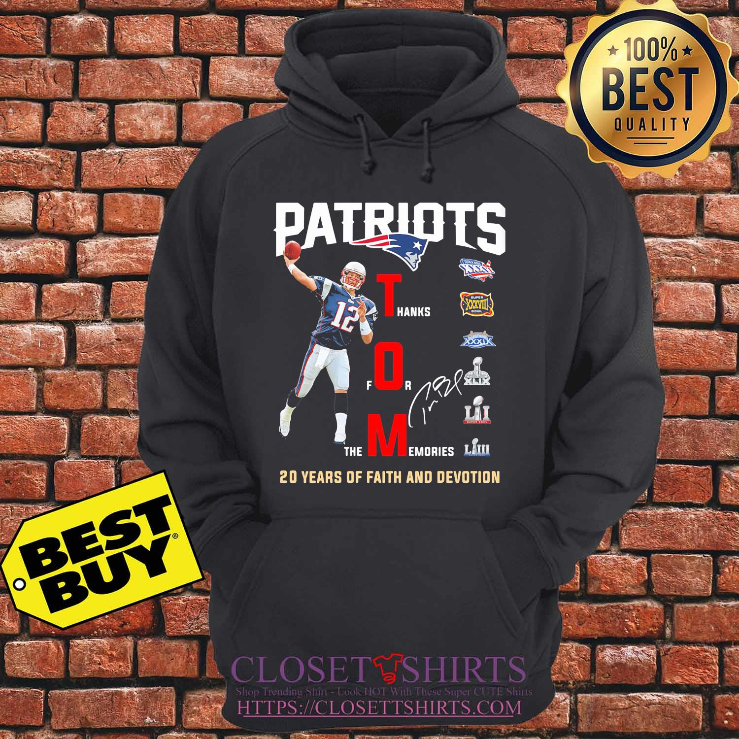 New england patriots tom liv 20 years of faith and devotion signature s hoodie