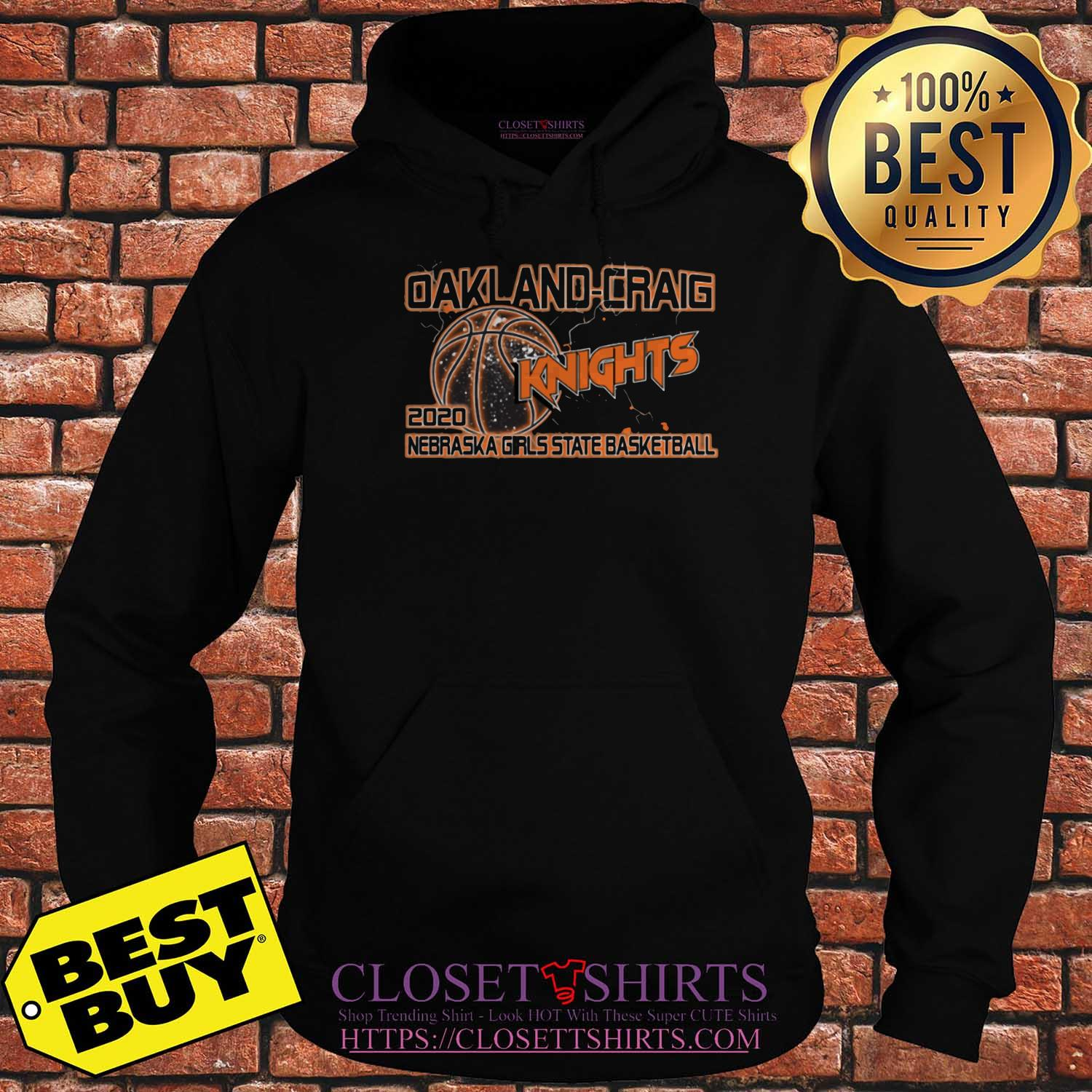 Oakland Craig Knight 2020 Nebraska Girls State Basketball Hoodies