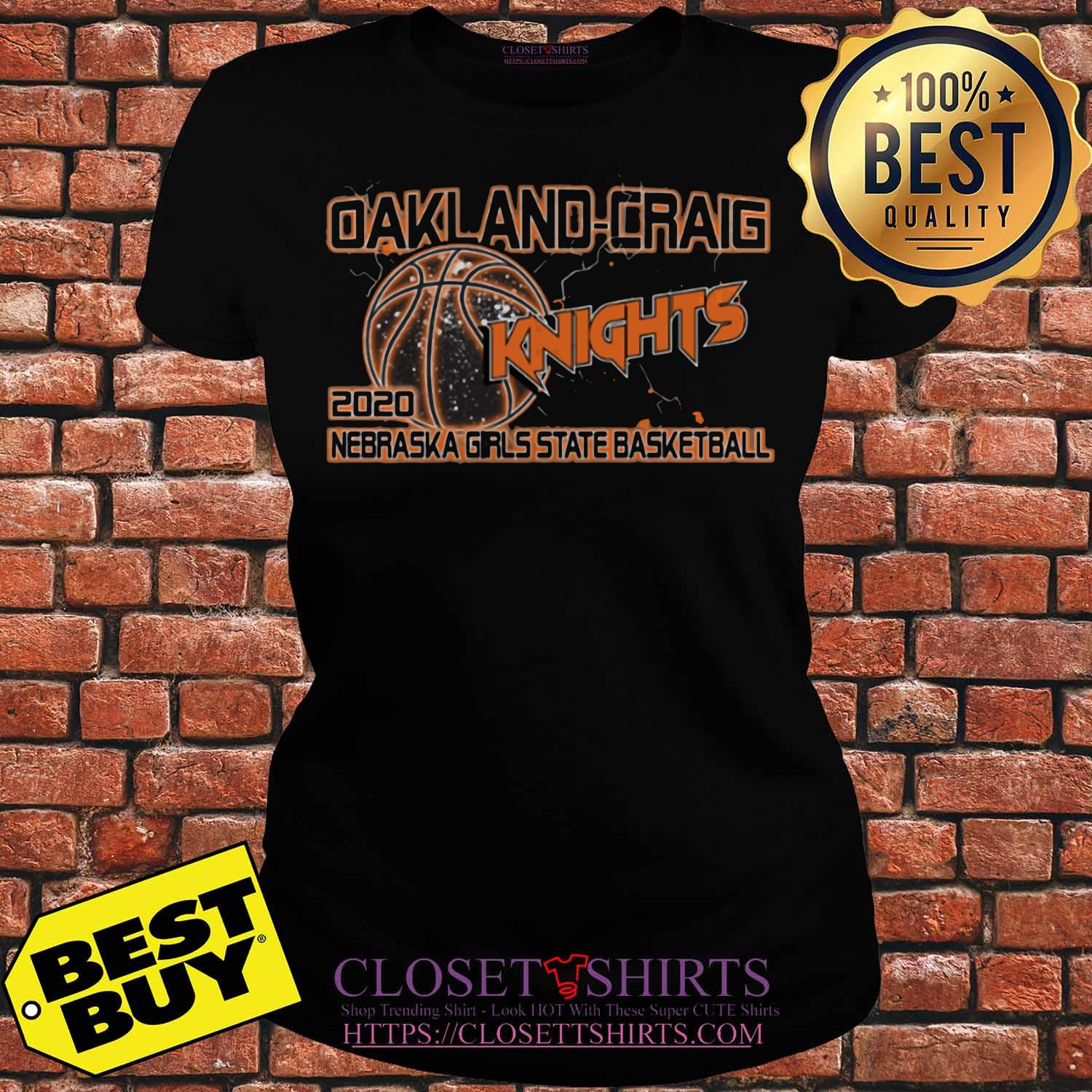 Oakland Craig Knight 2020 Nebraska Girls State Basketball Ladies tee