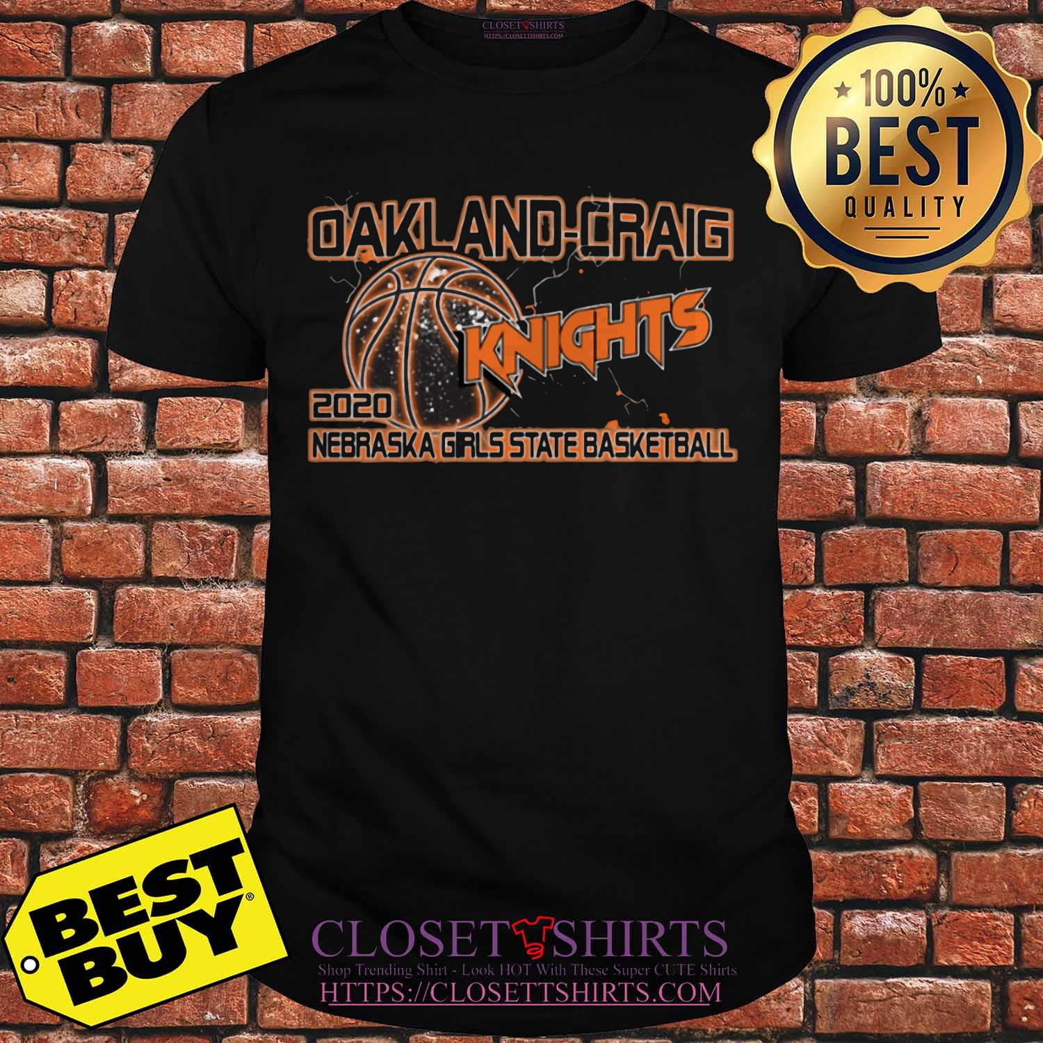 Oakland Craig Knight 2020 Nebraska Girls State Basketball Shirt