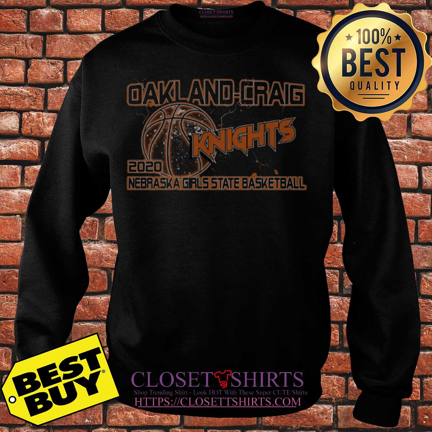 Oakland Craig Knight 2020 Nebraska Girls State Basketball Sweater