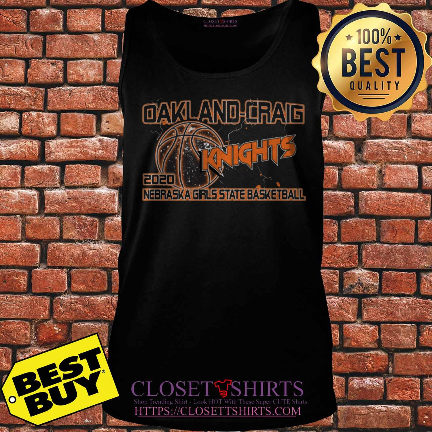 Oakland Craig Knight 2020 Nebraska Girls State Basketball Tank Top