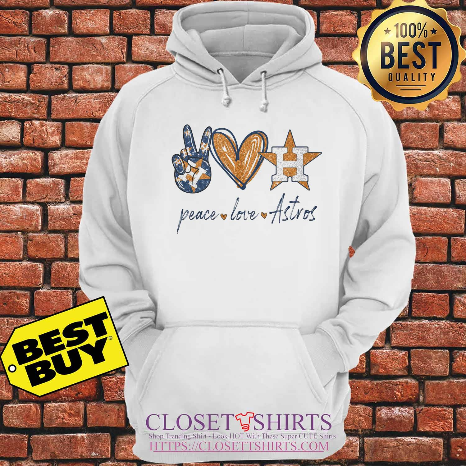 Official Peace love Houston Astros s Hoodie