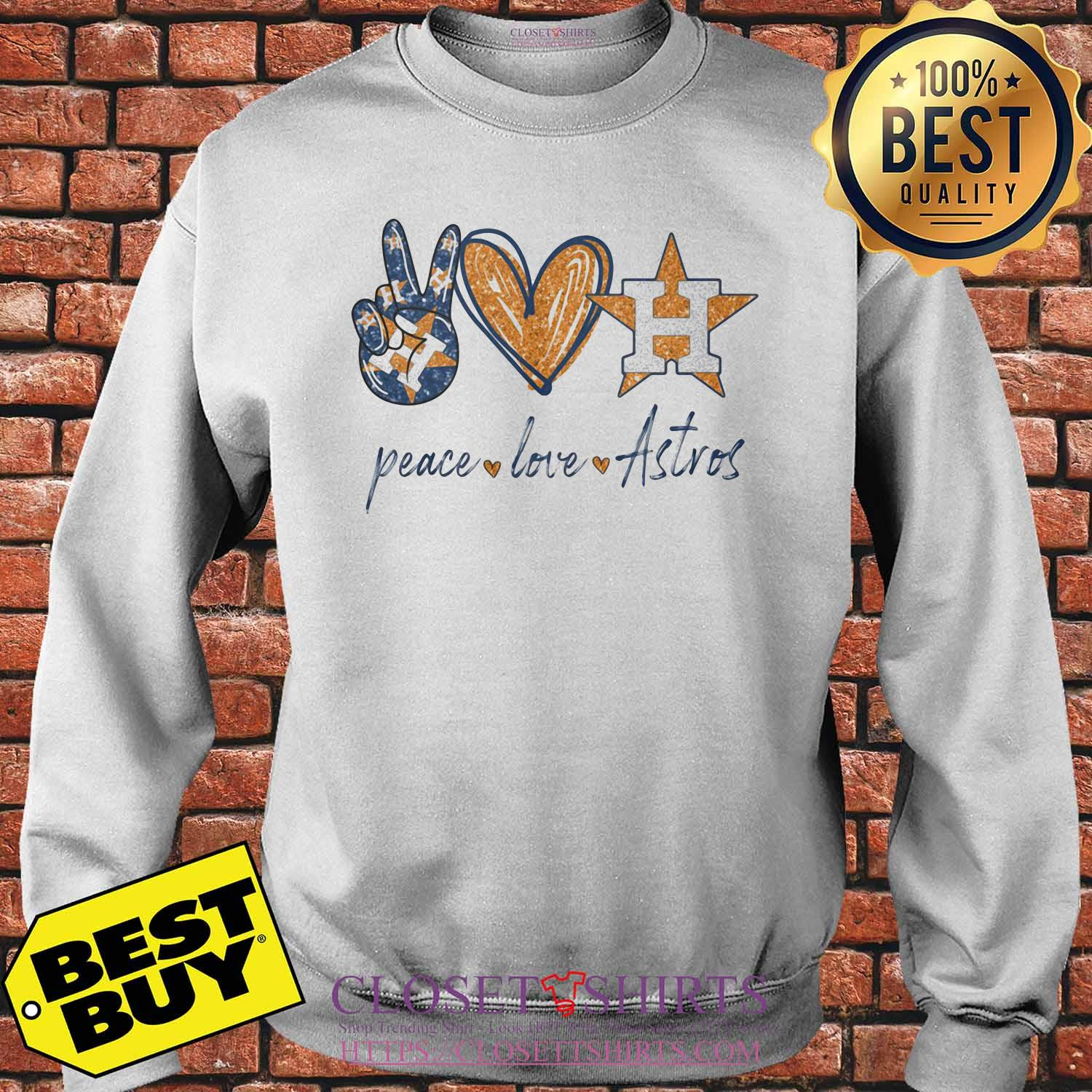 Official Peace love Houston Astros shirt