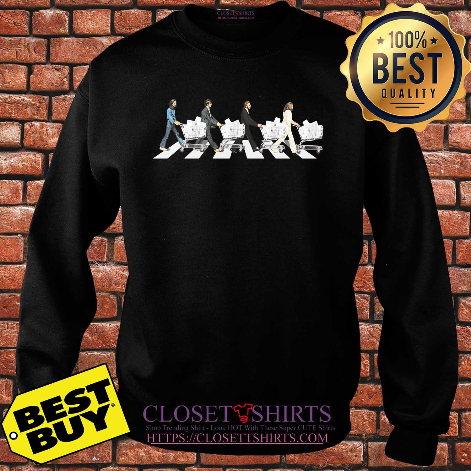 The Beatles Walking Across The Road shirt