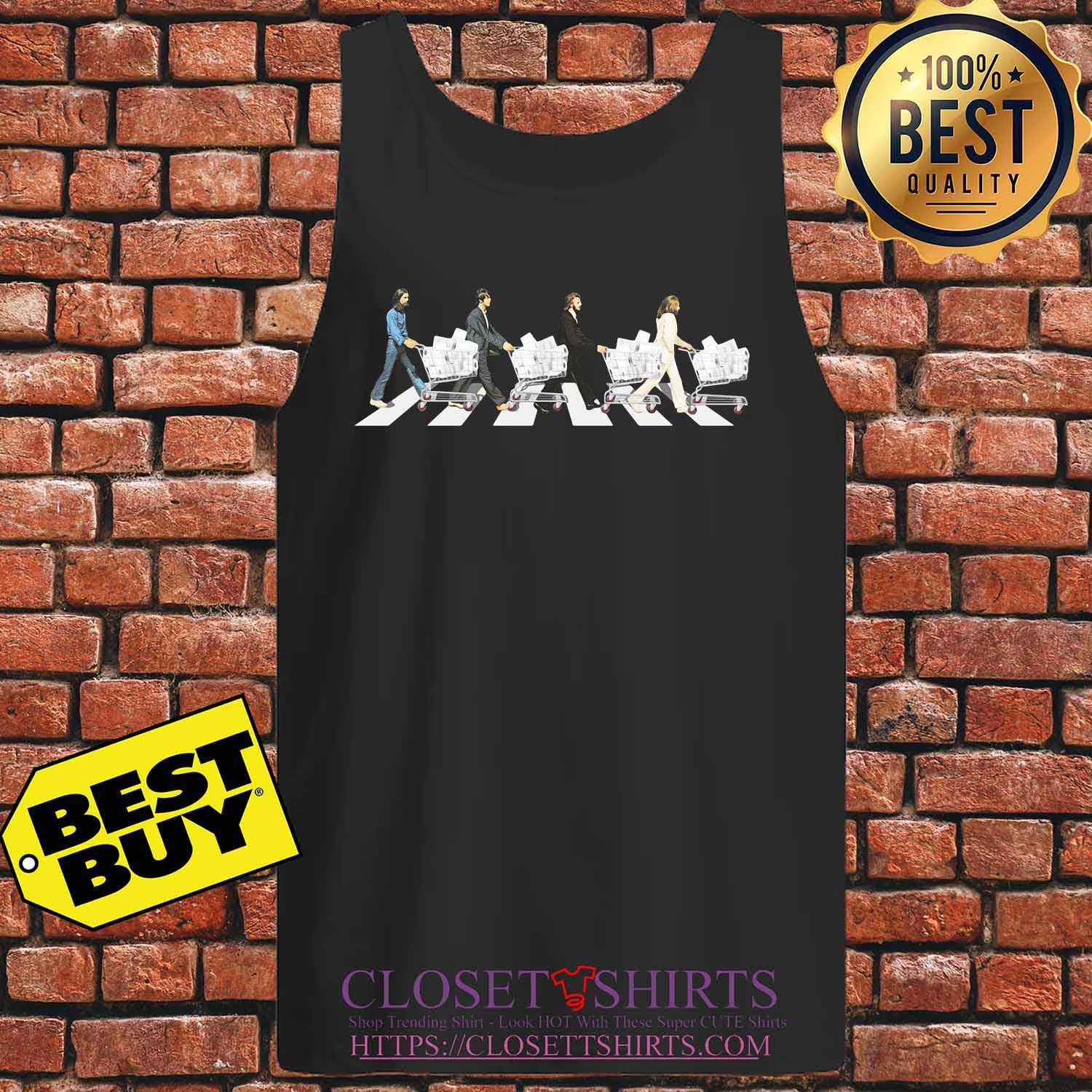 The Beatles Walking Across The Road s Tank top