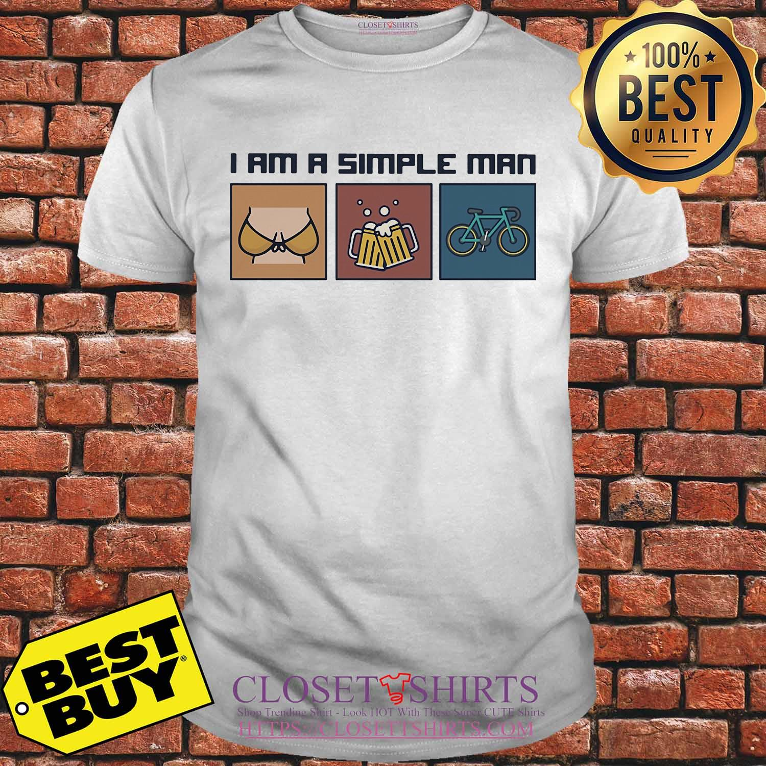 I am a simple man beer bicycle shirt
