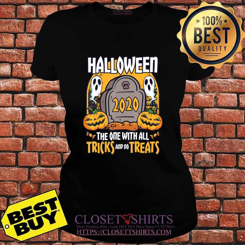 Halloween 2020 The One With All Tricks And No Treats T-Shirt V-neck