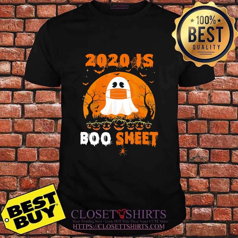 2020 Boo Sheet Funny Ghost in Mask Simple Halloween Costume T-Shirt
