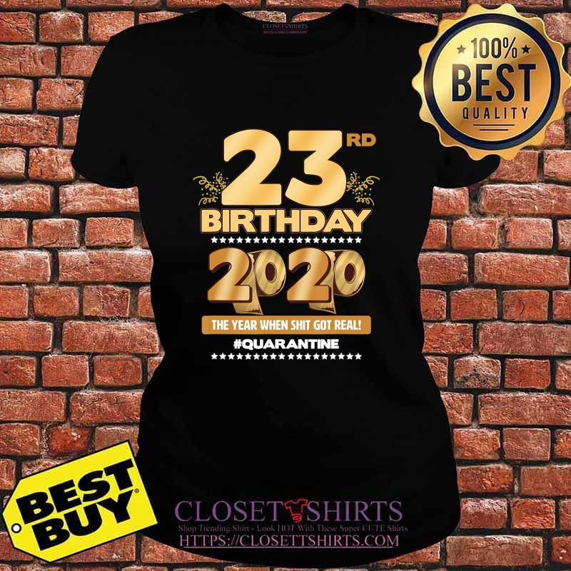 23rd Birthday Quarantined 2020 Gift Limited Born in 1997 Tee T-Shirt V-neck