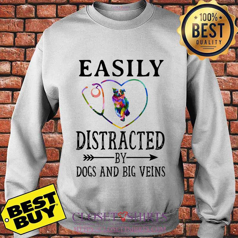 Easily distracted by dogs and big veins german shepherd heart s Sweater