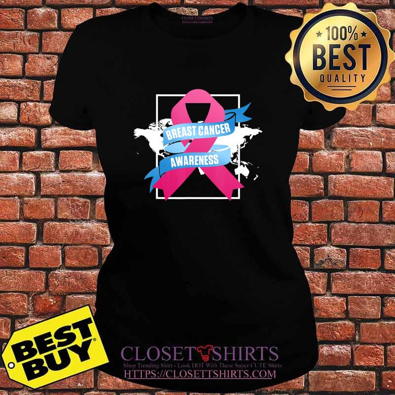 Breast Cancer Awareness Patient US Survivor Warrior T-Shirt V-neck