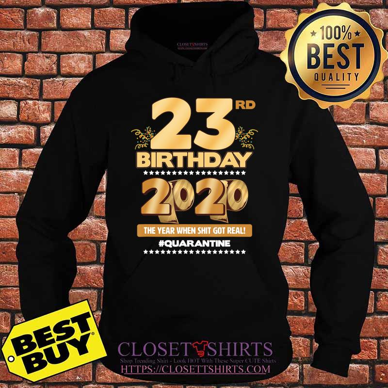 23rd Birthday Quarantined 2020 Gift Limited Born in 1997 Tee T-Shirt Hoodie